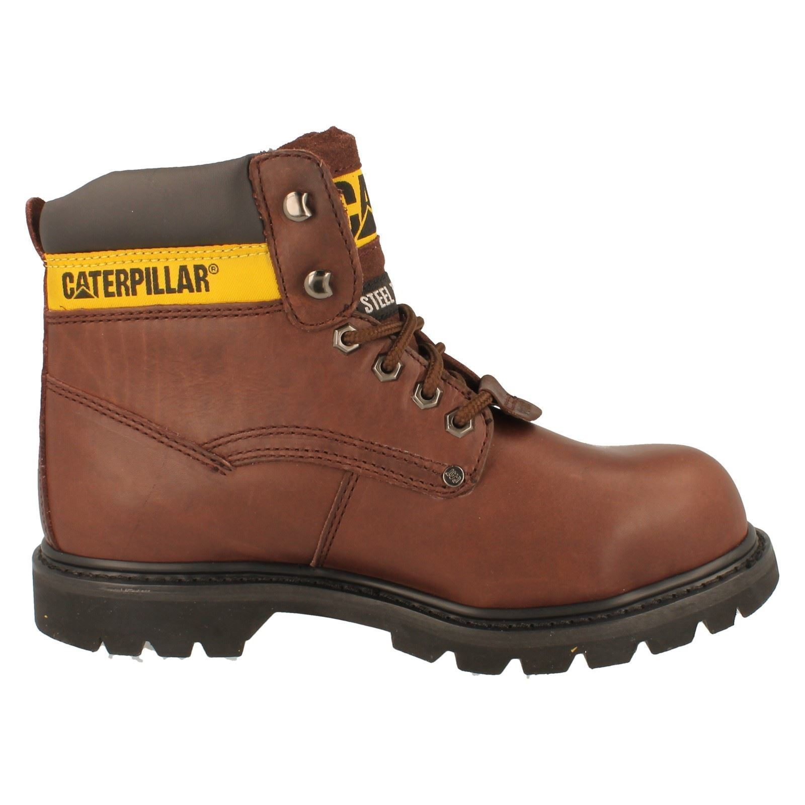 mens caterpillar steel toe safety work boots sheffield ebay. Black Bedroom Furniture Sets. Home Design Ideas
