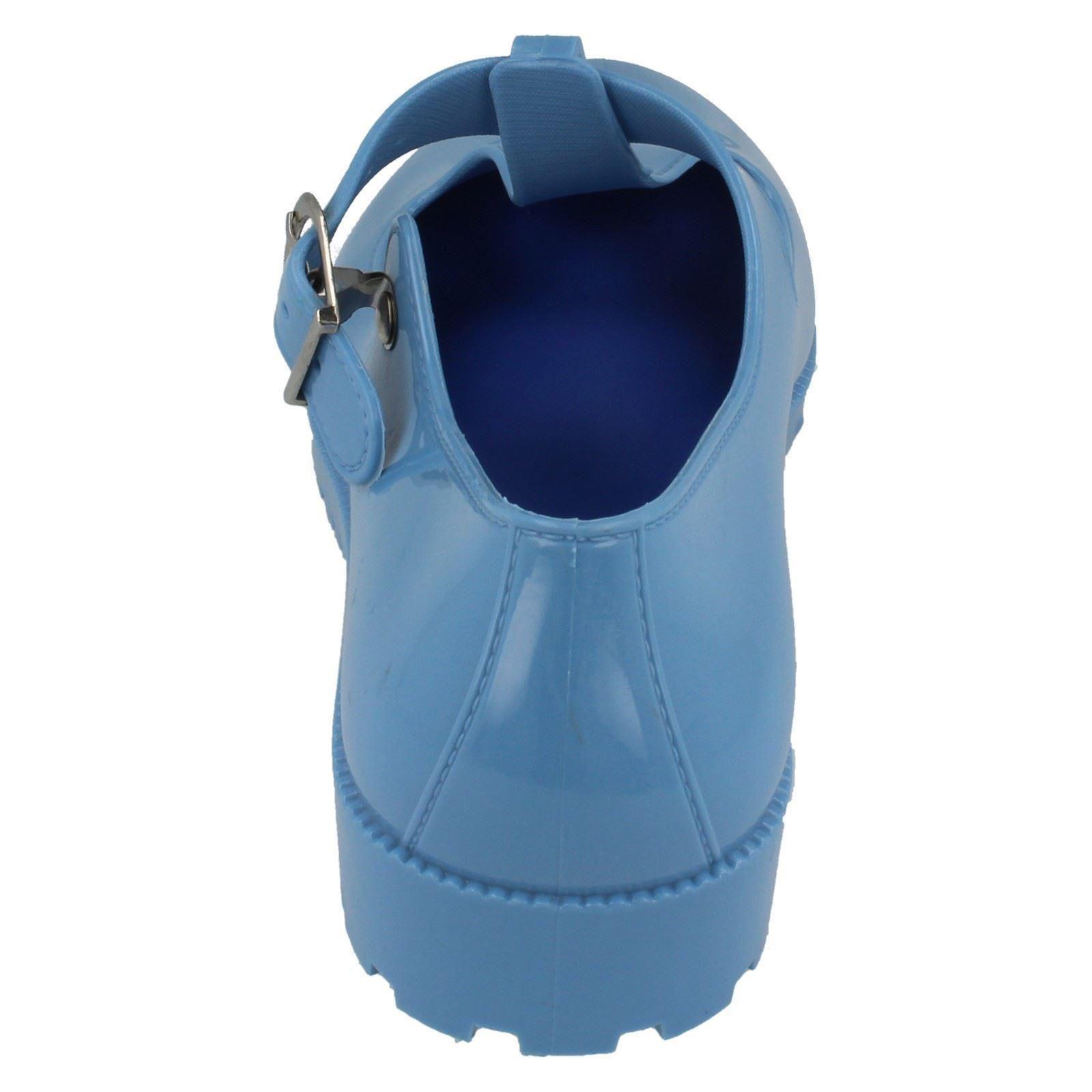 Damas Spot On Hebilla T-Bar Goma Zapato Etiqueta F80045