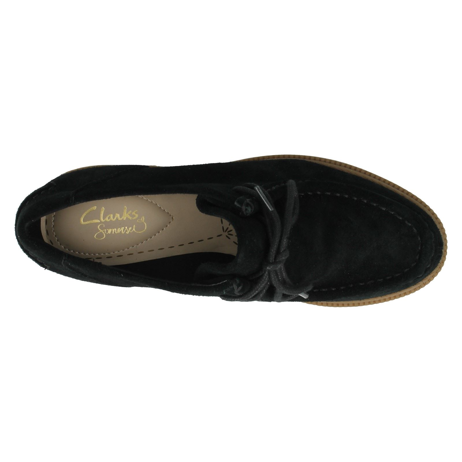 Label Ladies Suede Smart Trouser Black Willow Shoes Balmer Clarks RSqS1wI