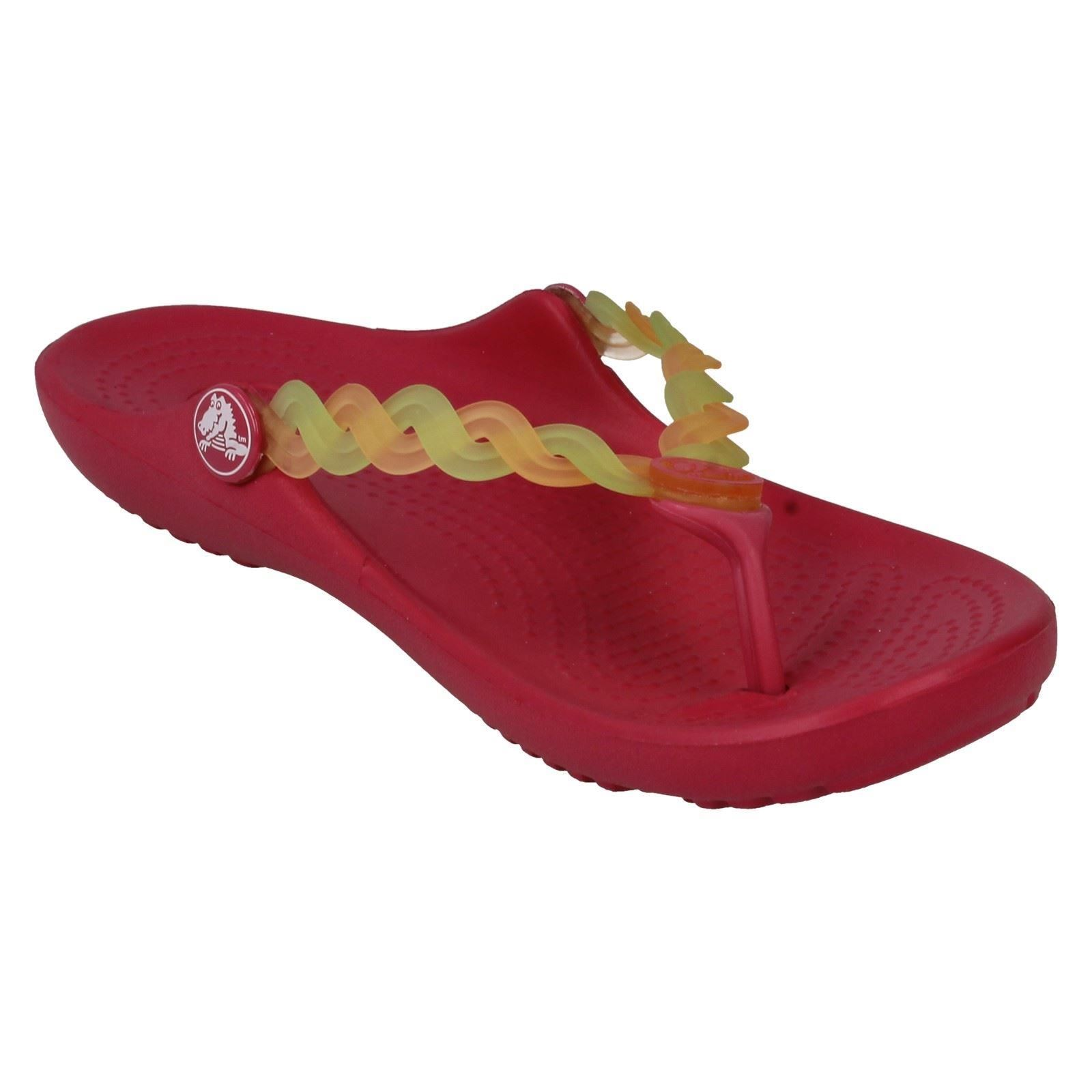 Niñas Crocs 'Camaleón TNS Tejido Flip' Sandalias De Verano Etiqueta ~ K