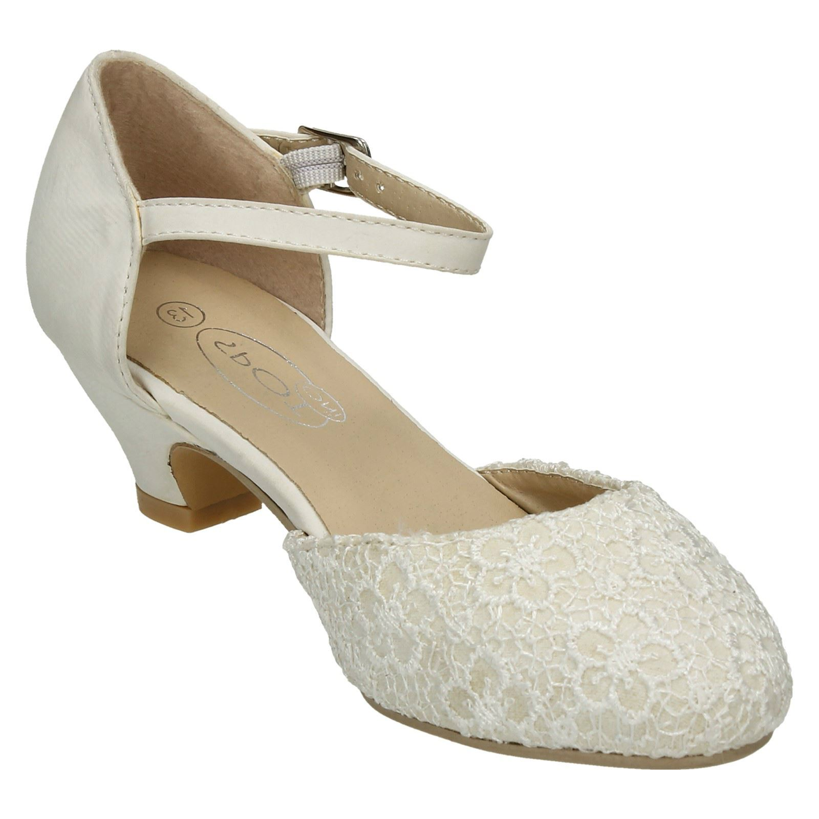 Girls Spot On Smart Bridesmaid Heels H3045 ~ K