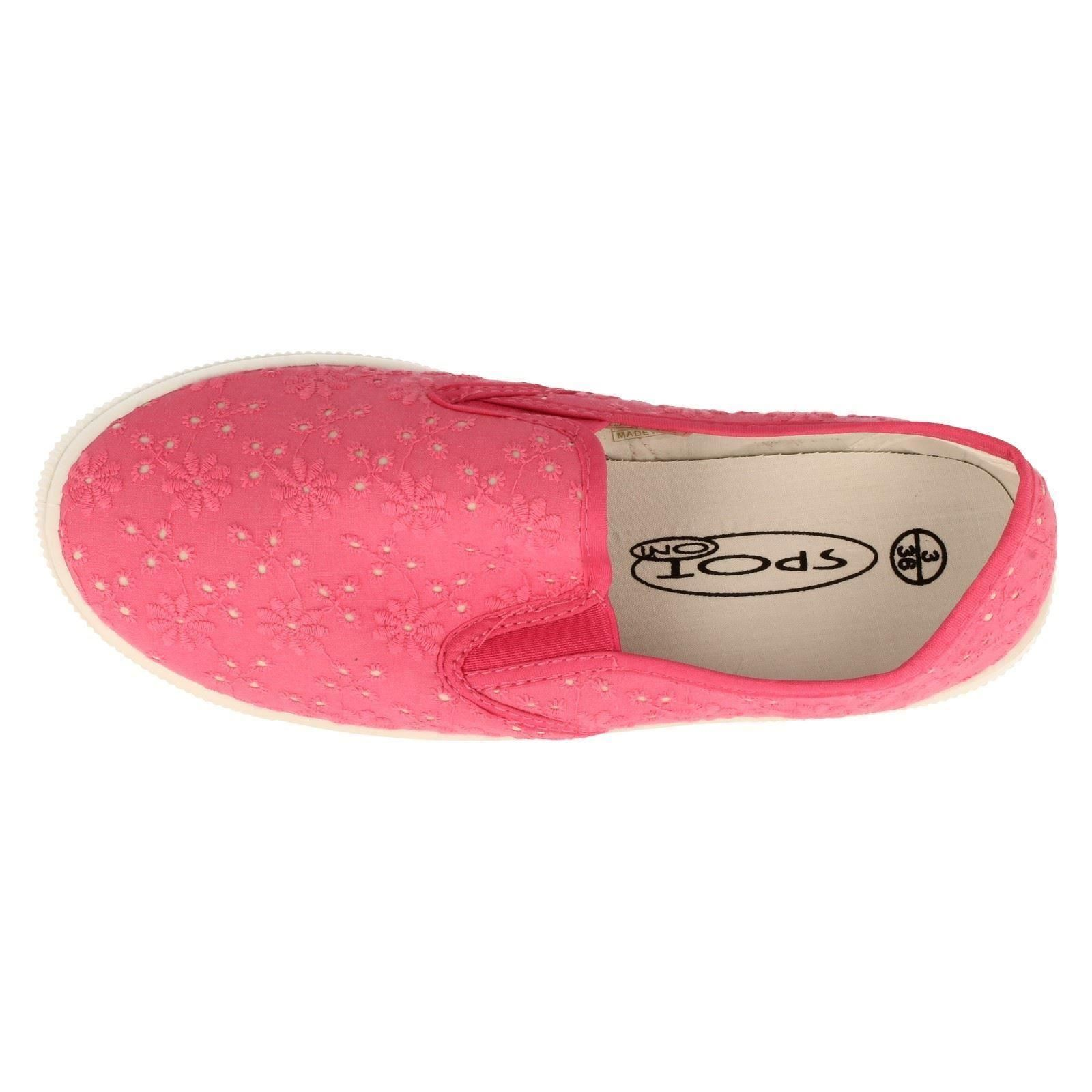 Ladies Spot On Shoes Label F80056-W