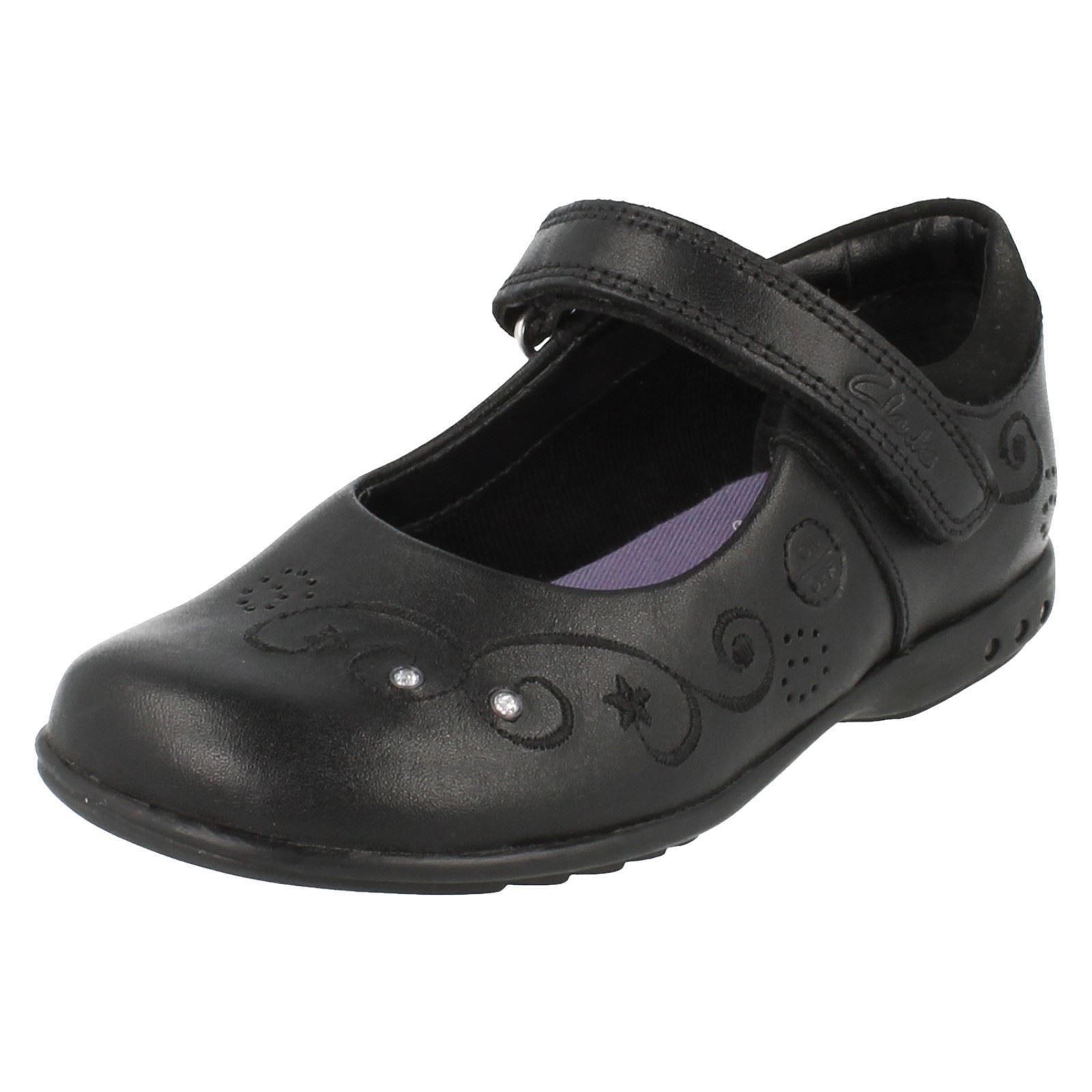 Girls Clarks Light Up School Shoes G Fit 'Breenajo' Label ~ K