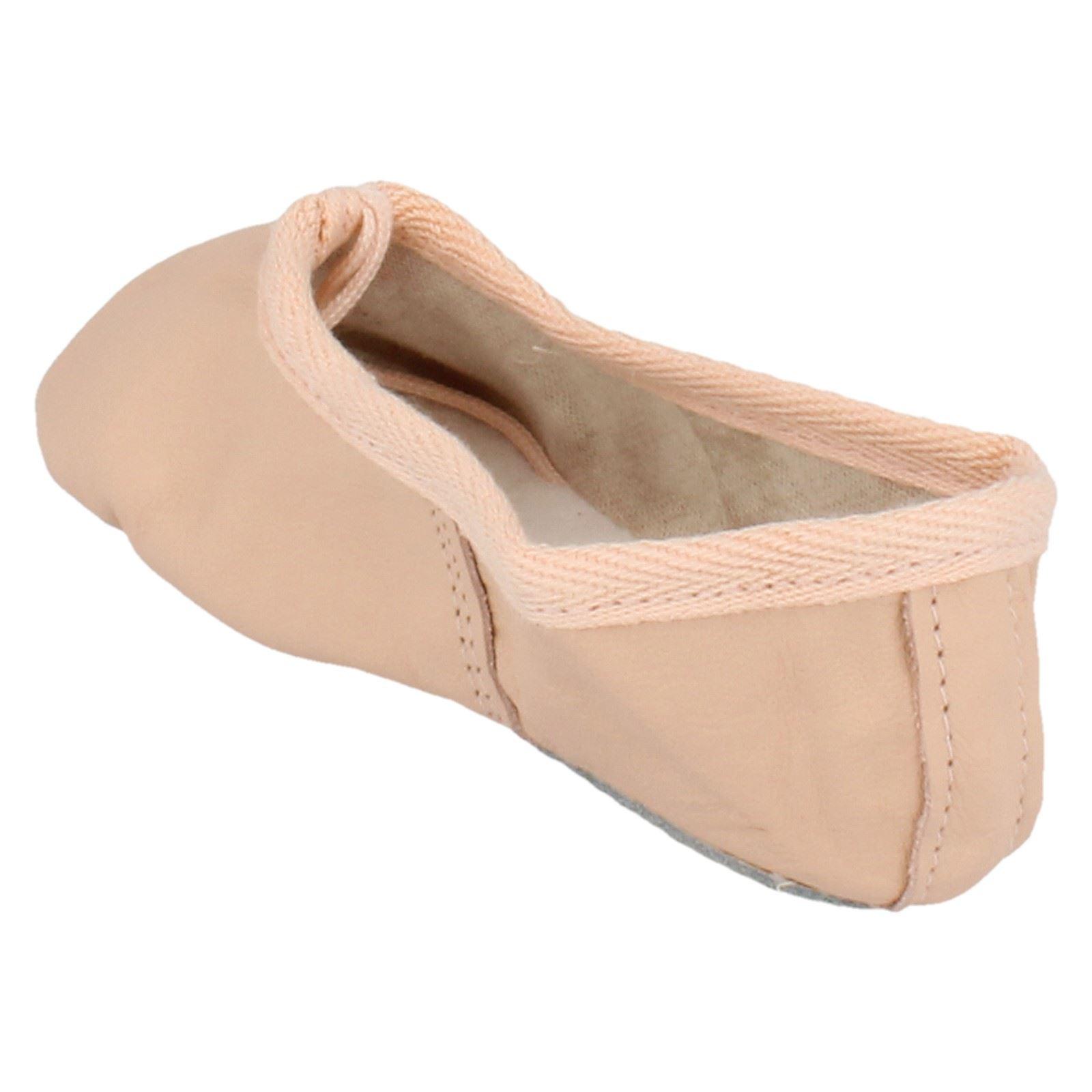 Cuero señoras Gandolfi Ballet Zapatos De Baile Etiqueta Zapatos De Ballet-D