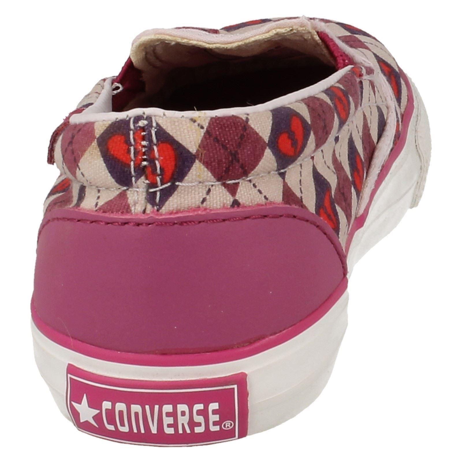 Girl Converse Flats Style Inft Skid Grip Ev-W