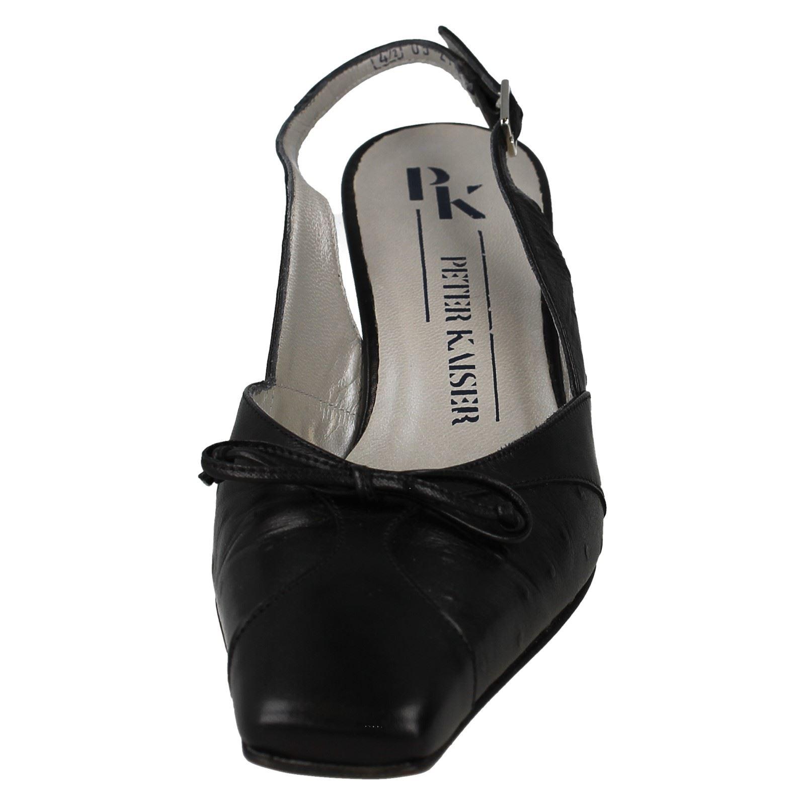 Kaiser Peter The Ladies Black Court Chevro Style Slingback Shoes Buckle Borgia 15Zn4Zq