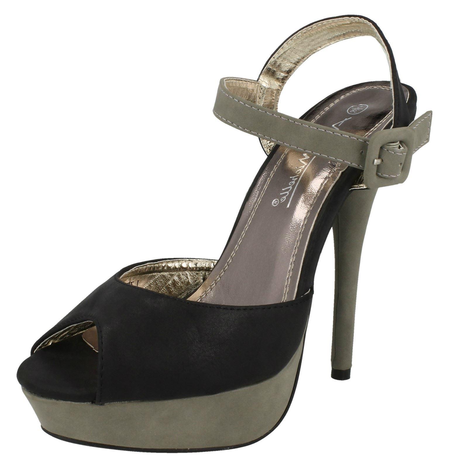 Damas Anne Michelle L3365 Stiletto Punta Abierta Zapatos ~ K