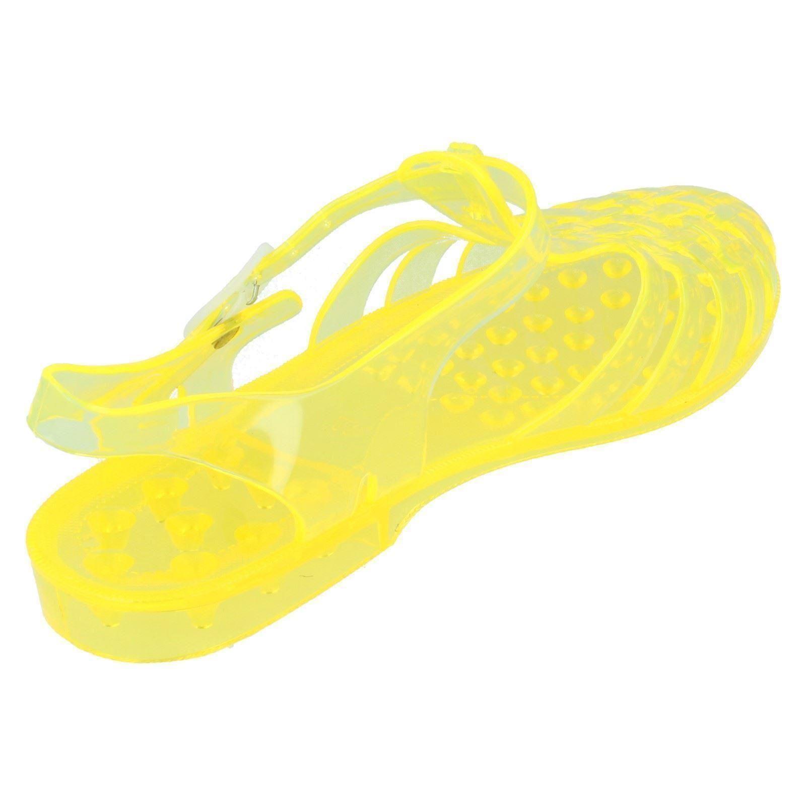 Damas de punto en goma Sandalias Etiqueta-F0714