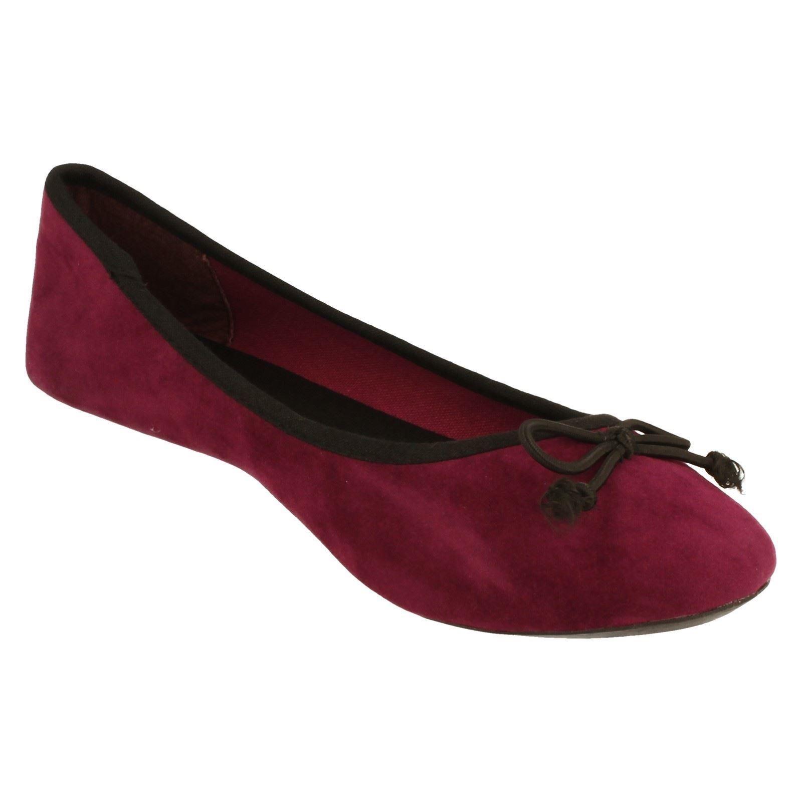 Damas Spot On Zapatos Planos Estilo - f8855