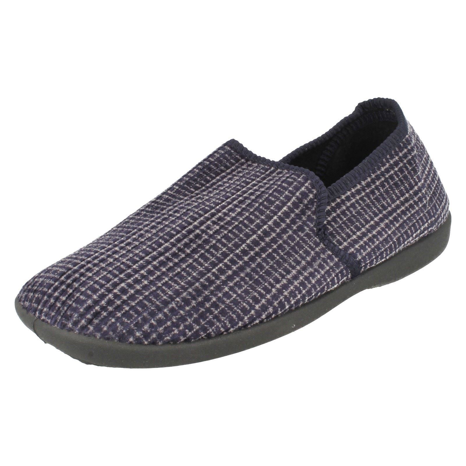 Mens Spot On X2034 Patterned Full Slippers ~ K