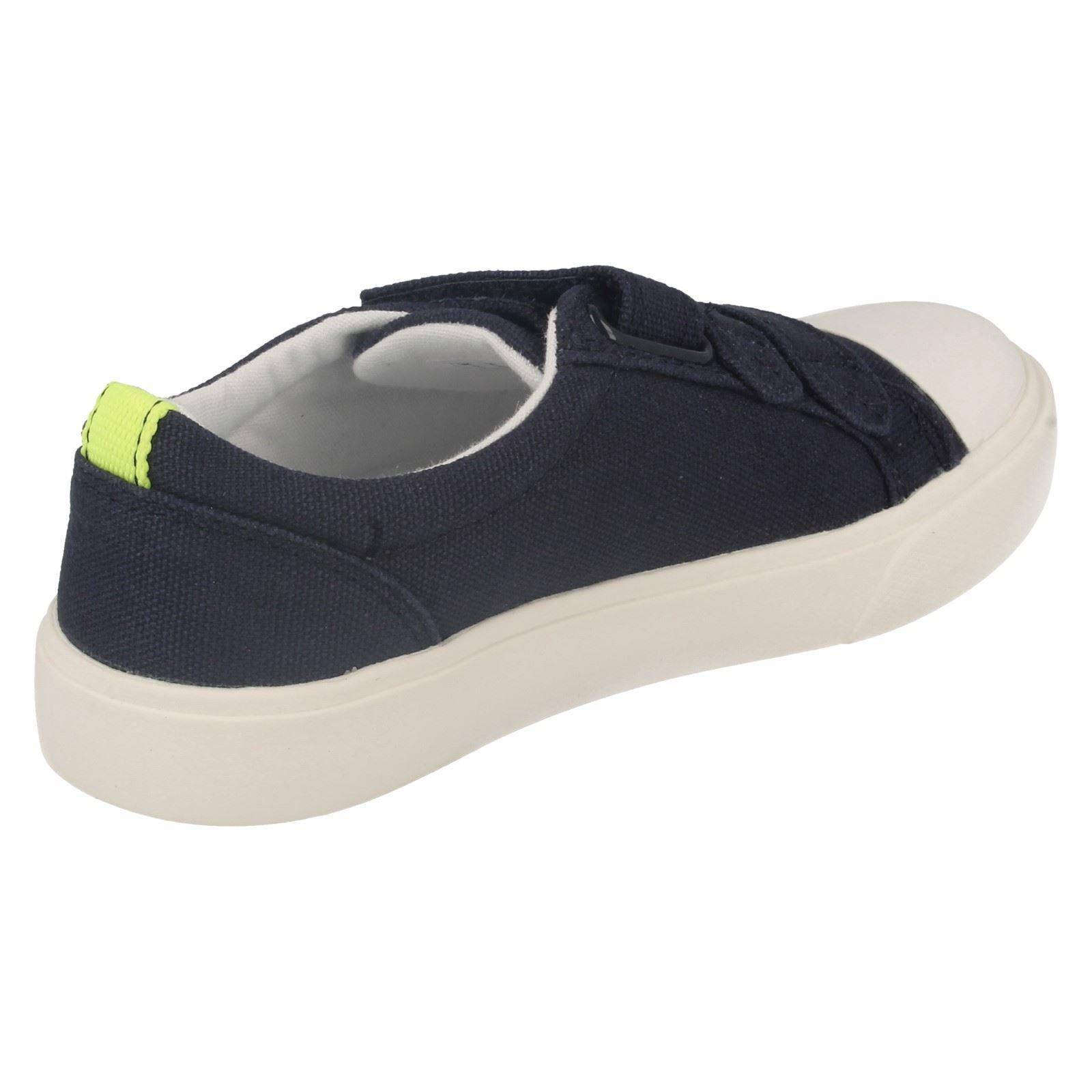 Boys Clarks Sasonal Canvas Summer Shoes Club Halcy
