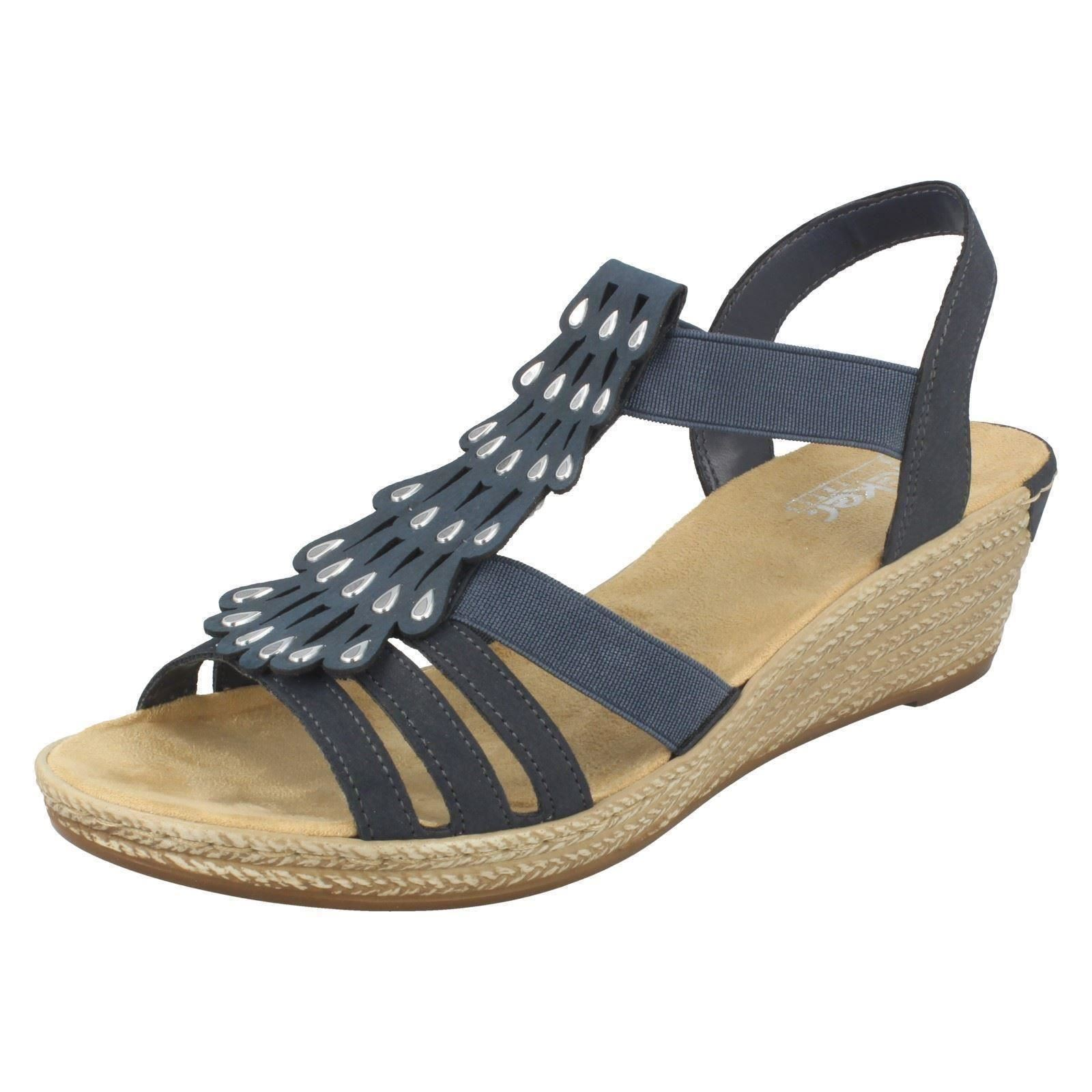 434afead6b3e Rieker 62436 - 14 Pazifik (navy) Womens Sandals 36 EU. About this product.  Picture 1 of 8  Picture 2 of 8 ...