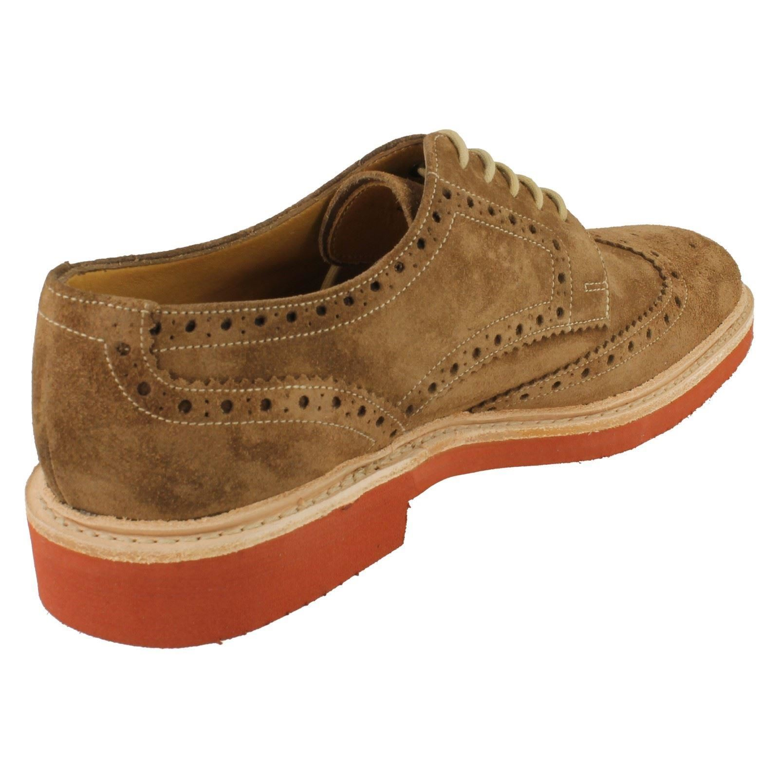 Mens Loake Casual Suede Suede Suede Shoes Fitting F Style - Logan 288195