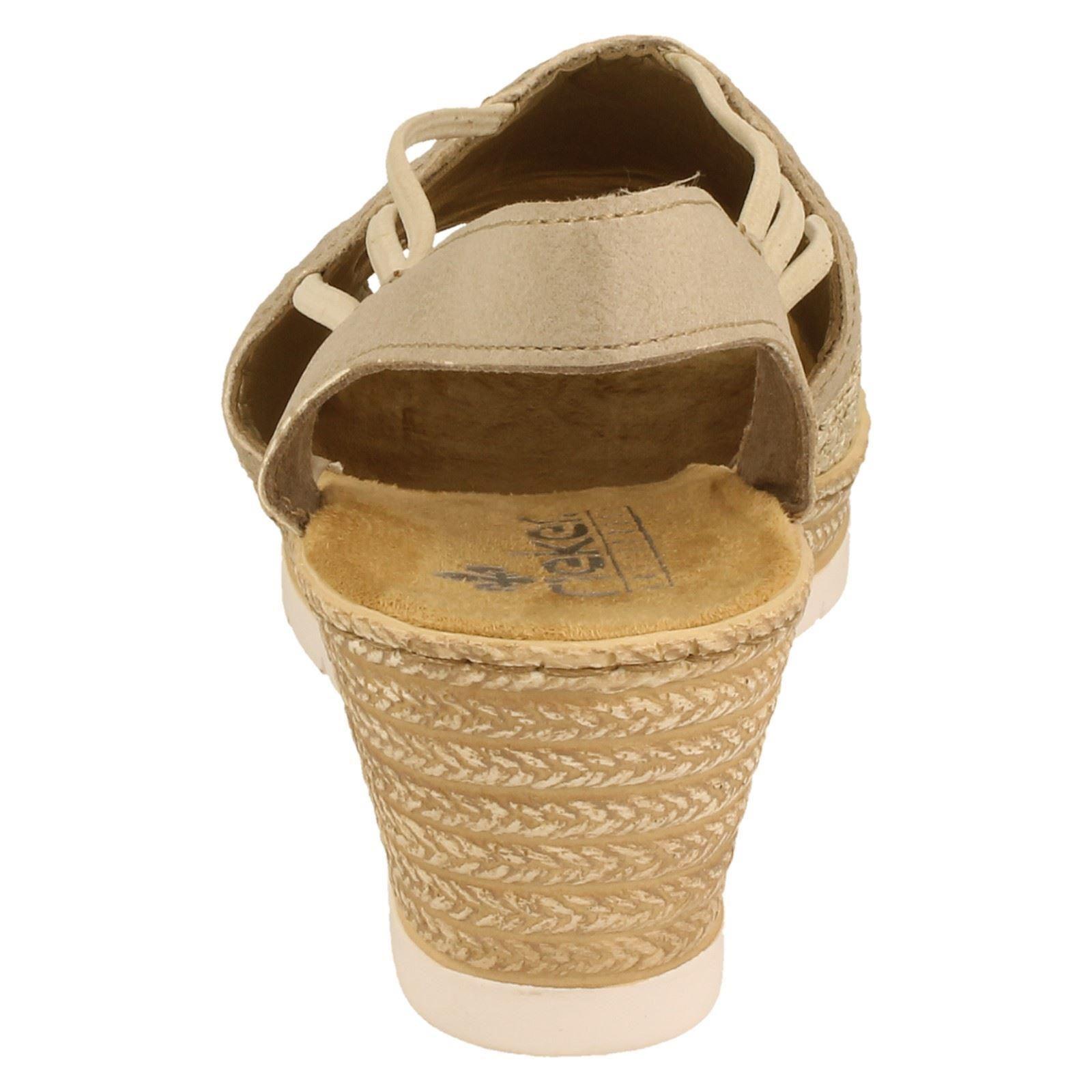 Combination w Label Rieker Ladies 61983 Summer Shoes Beige CwUTT0qn