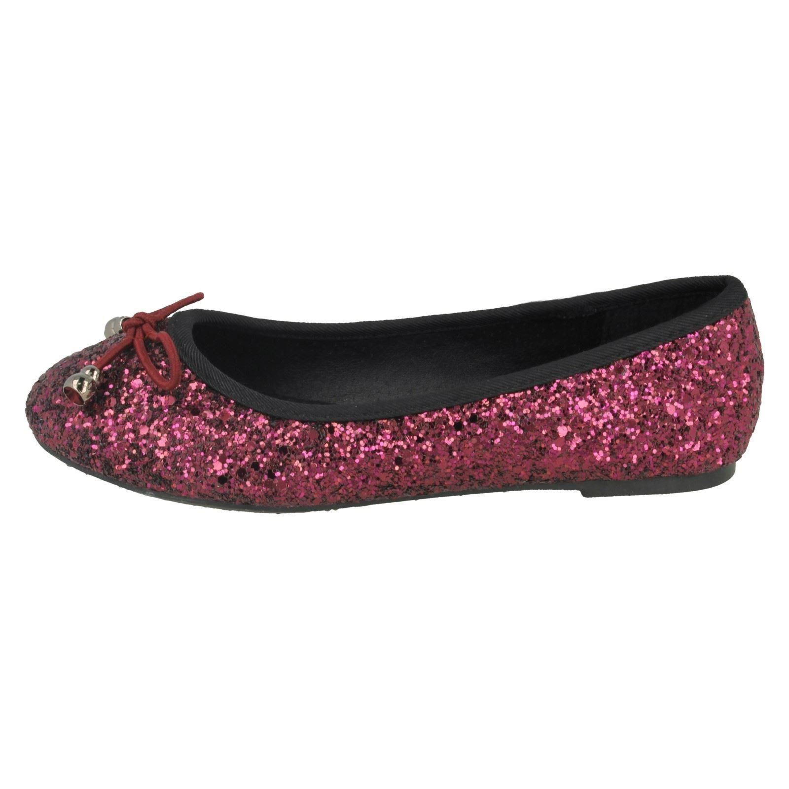 Girls Spot On H2442 Glitter Party Shoes ~ K