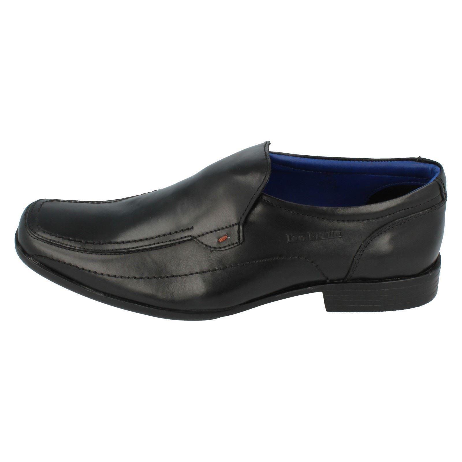 Onlineshoe Lujo de Piel Hombres Forrado Slip Zapatillas Mulas con Duro USA Marrón Suela - Marrón, US8 Uk7 - Eu40 - Negro