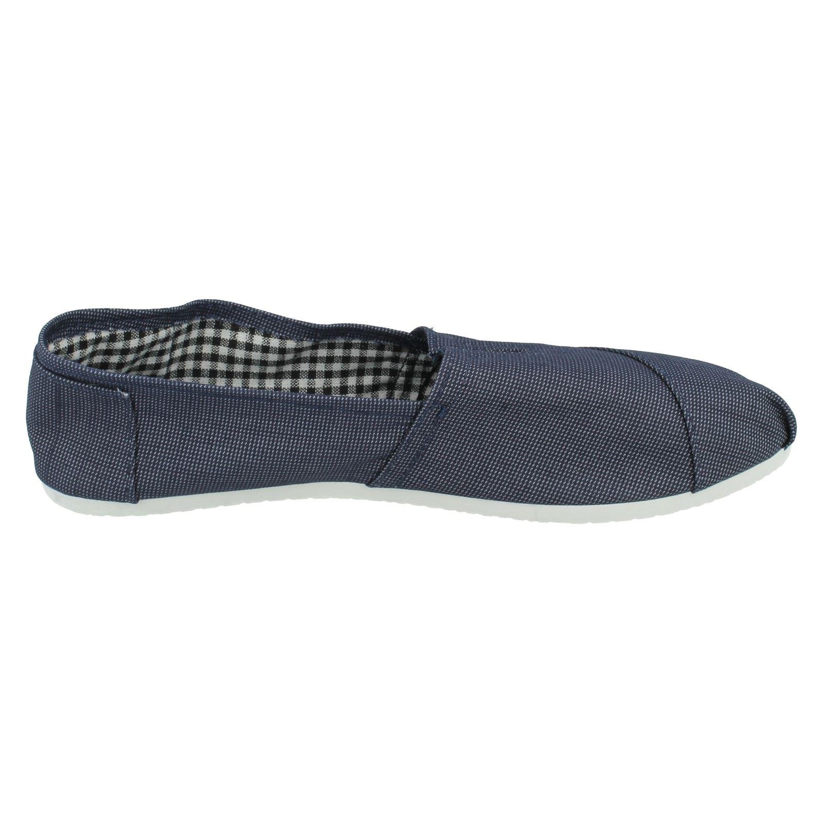Para Hombre Spot on Zapatos De Lona A1086 Etiqueta ~ K
