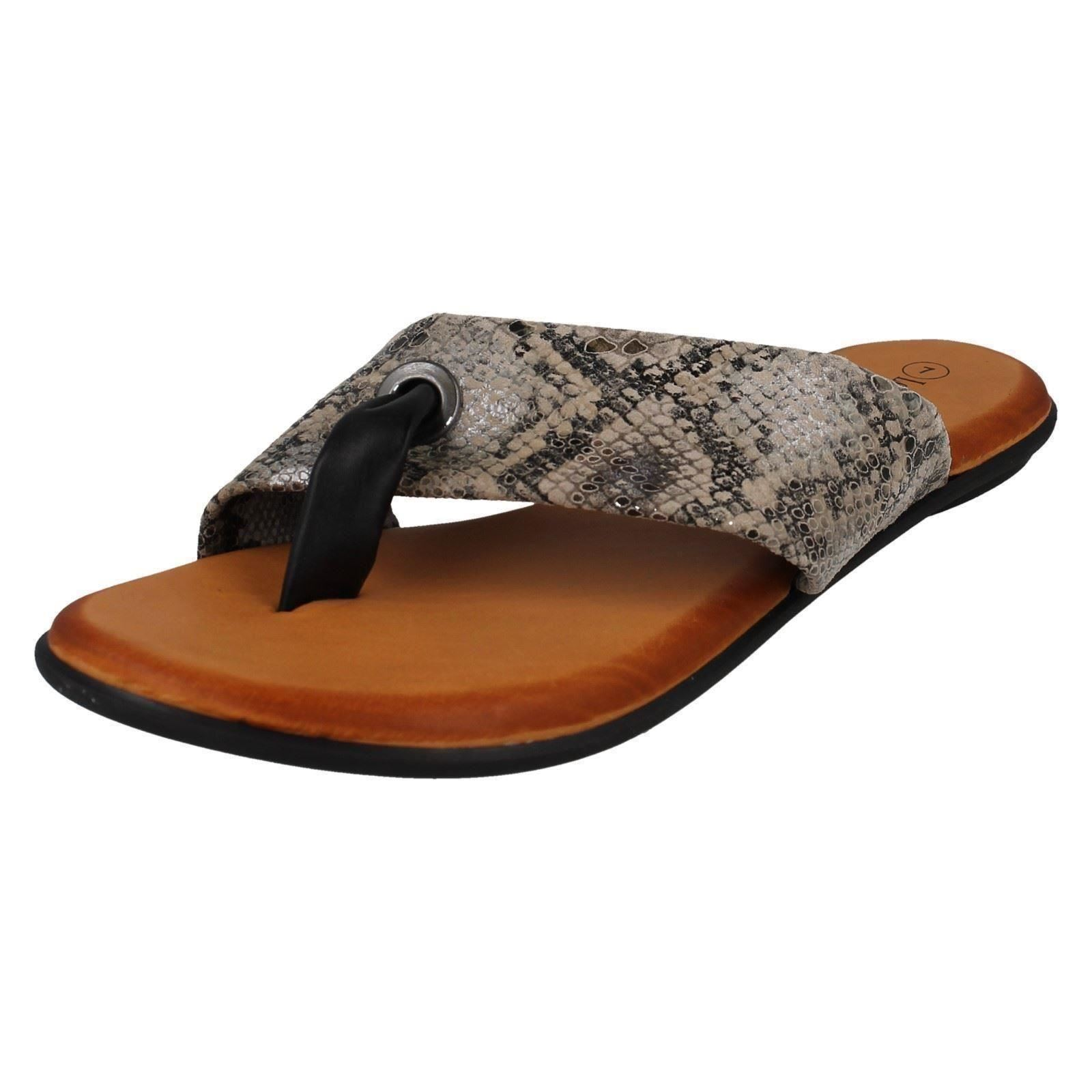 Ladies Style eBay Sandals F0R0128 Leather Collection Post Toe rgwqzrxZ