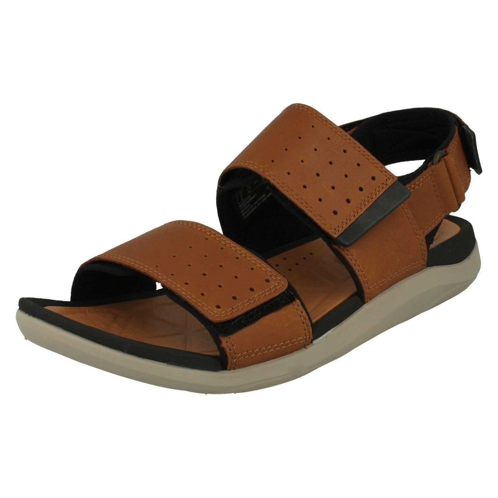 Men's Clarks Leather Sandals Open Toe Casual  Sandals Leather Style - Garratt Active 92c53c
