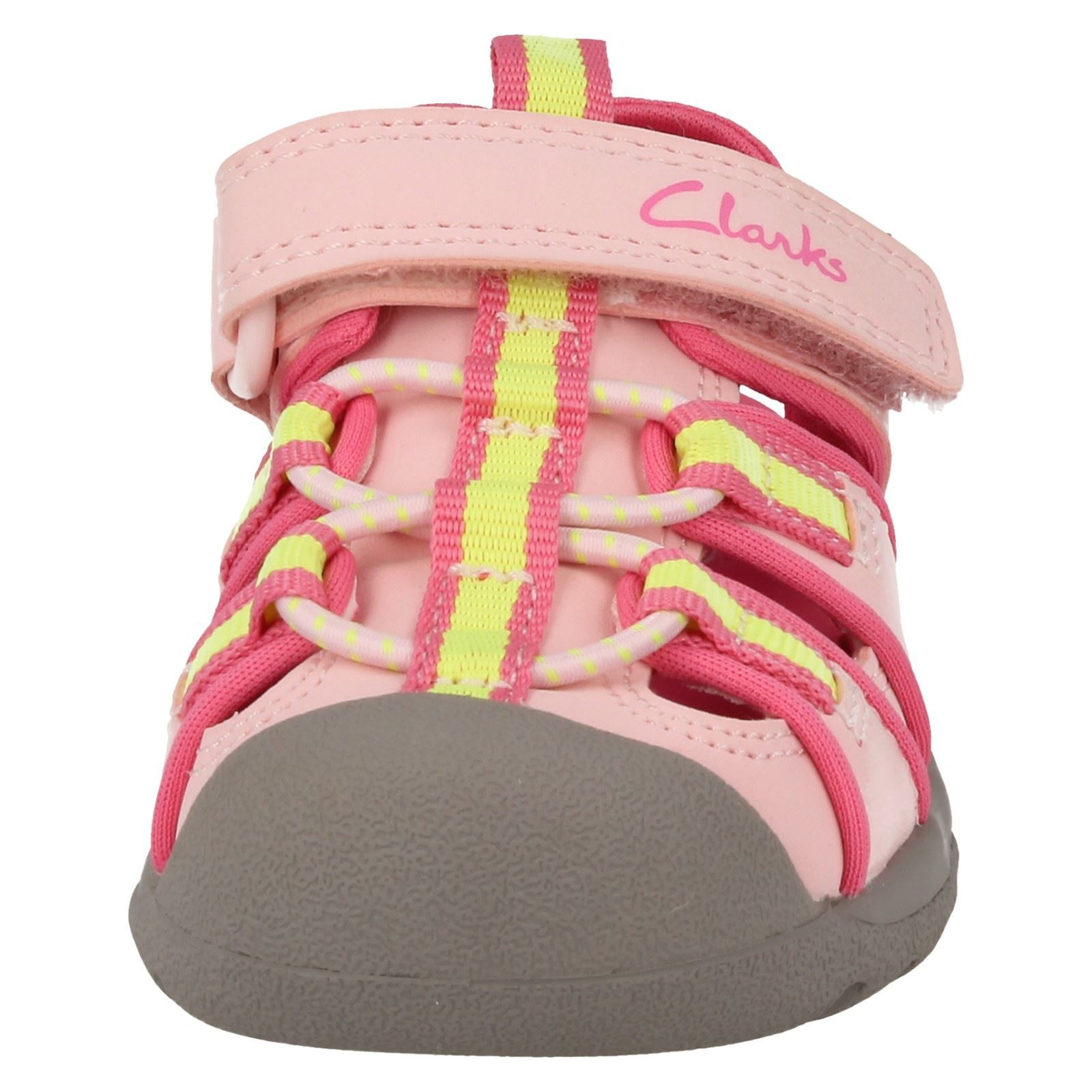 Children Clarks Closed Tos Hook & Loop Doodle Sandals Style - BeachTide