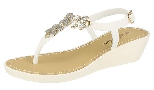 Damas Savannah F10432 Cuña Toe Post Sandalias ~ K