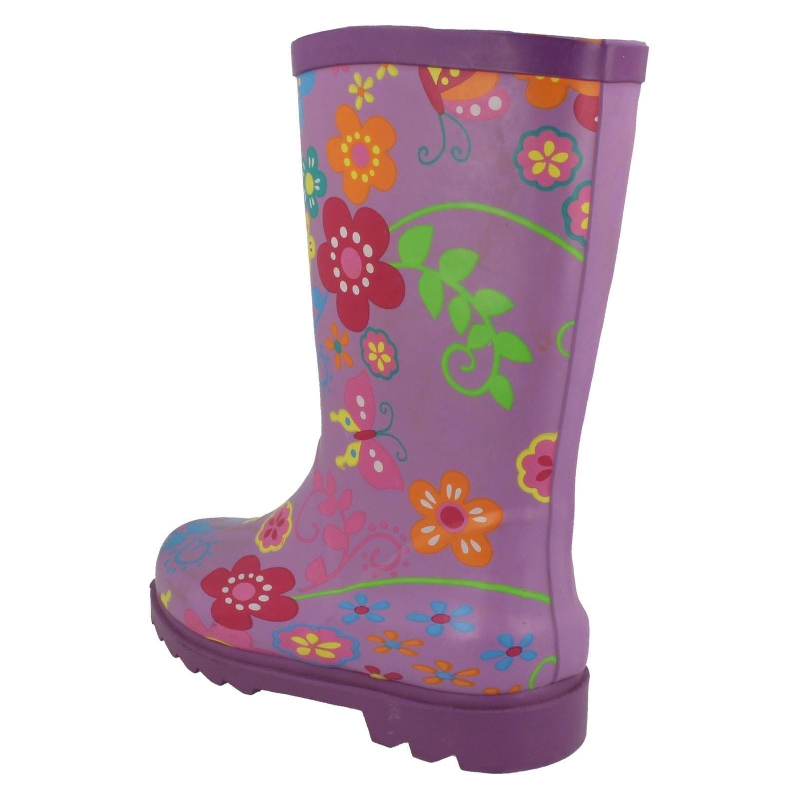 Girls Spot On Wellingtons The Style X1062-W