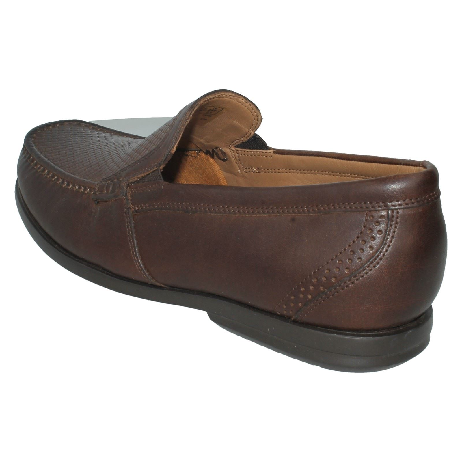 Mens Unstructured by Clarks Leather Slip On Smart Shoes Un Gala Free