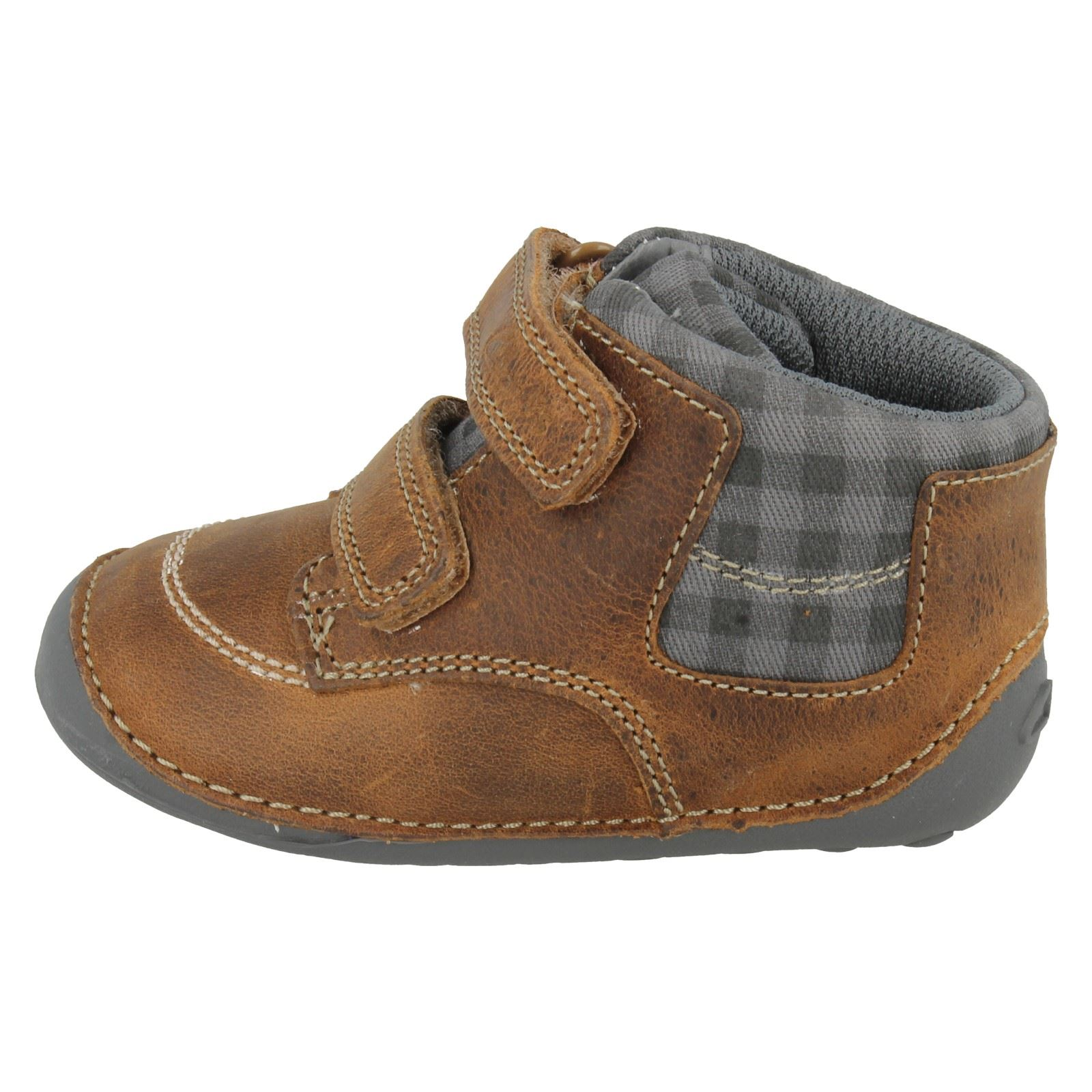 Boys Clarks First Shoes Ankle Boots Style - Tiny Jay