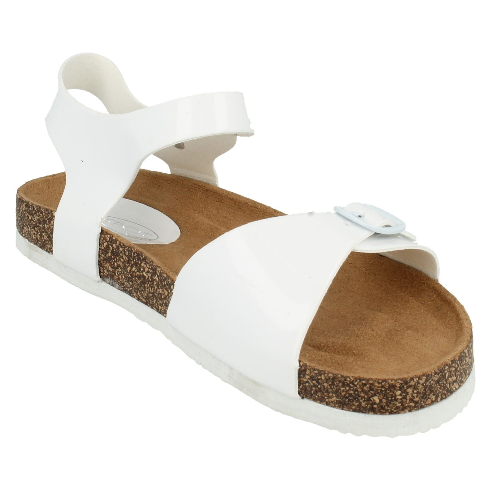 Girls Spot On Synthetic Buckle Fastening Sandals Style-H1068