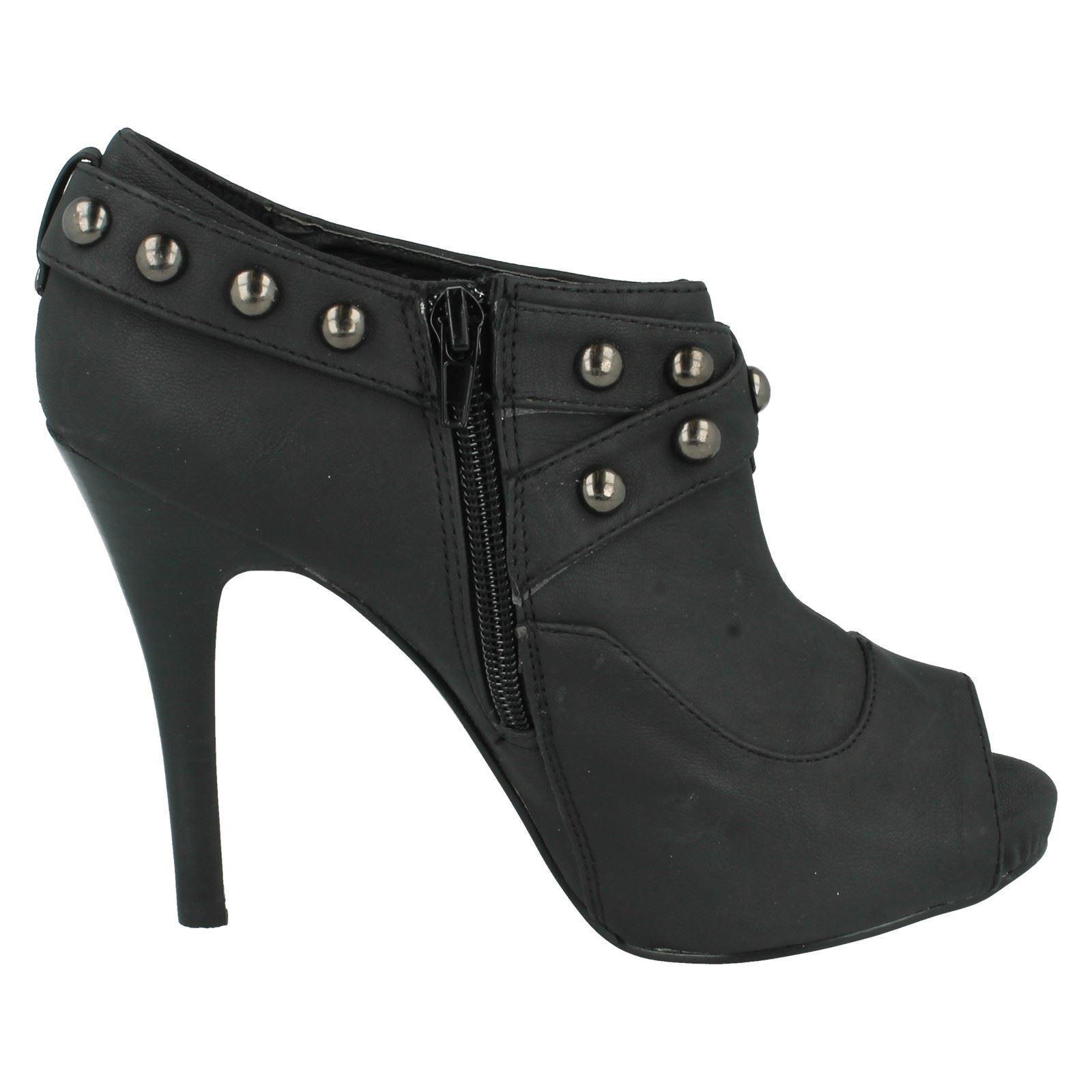 Señoras de punto en Peep Toe Zapatos Estilo-f1717