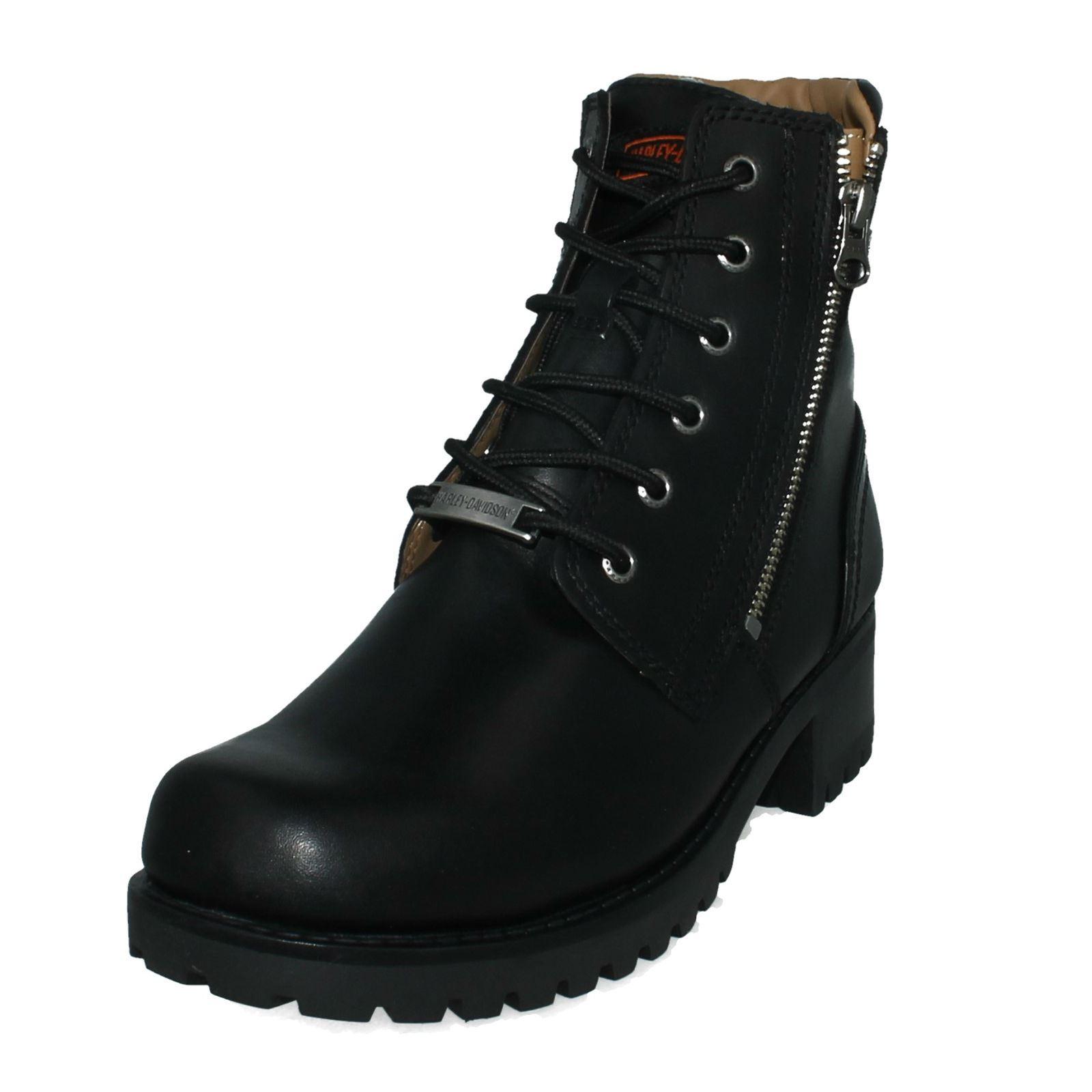 Ladies Harley Davidson Ankle Boots Asher - W W - da8169