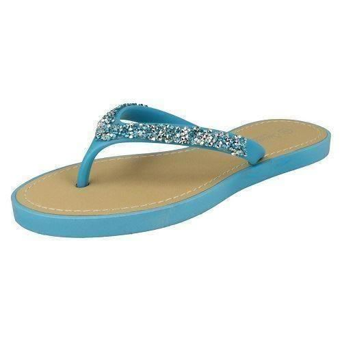 Sandalias de verano señoras de la Sabana Toe Post F0806 estilo ~ K