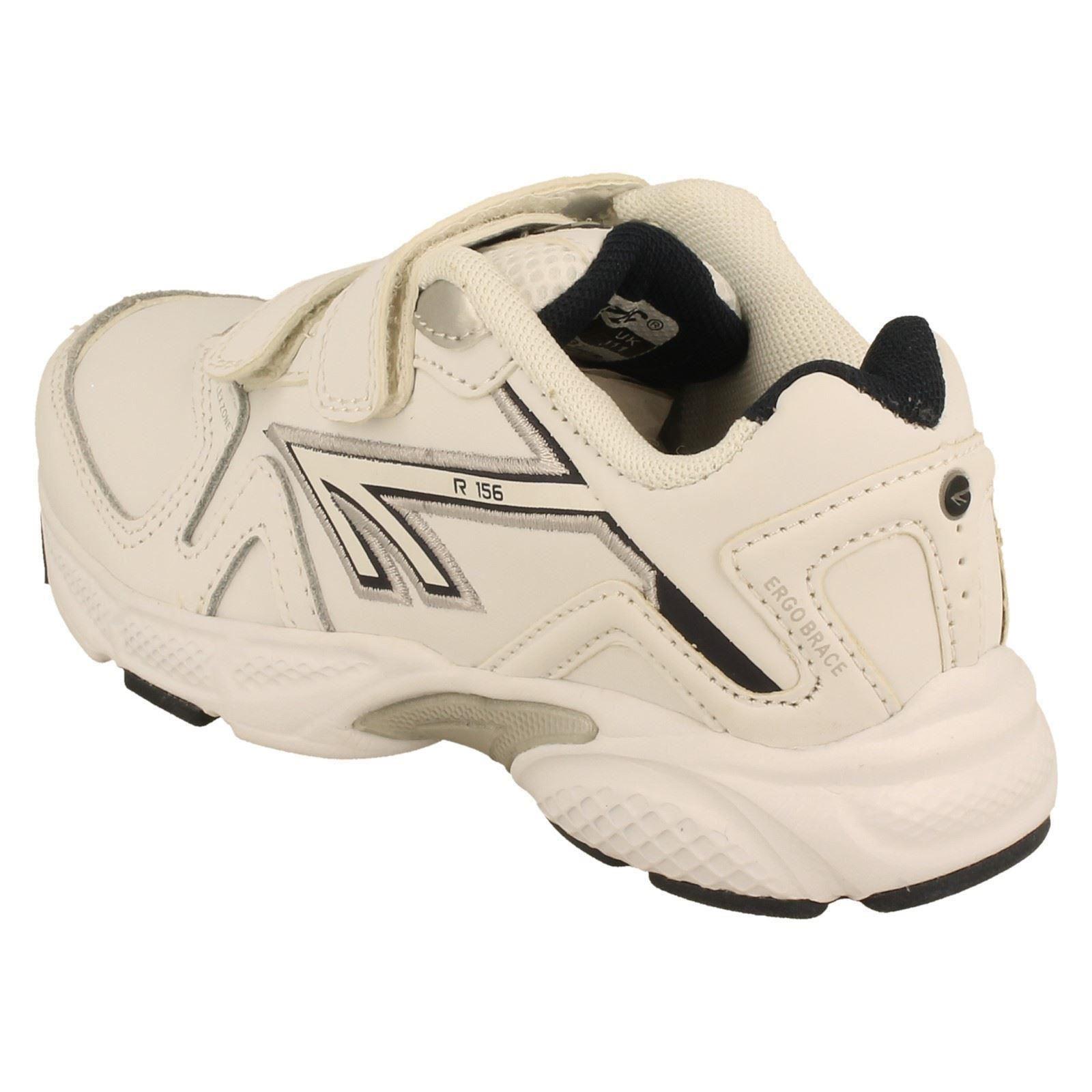 Boys Hi-Tec Trainers Style R156 EZ JR Leather -W