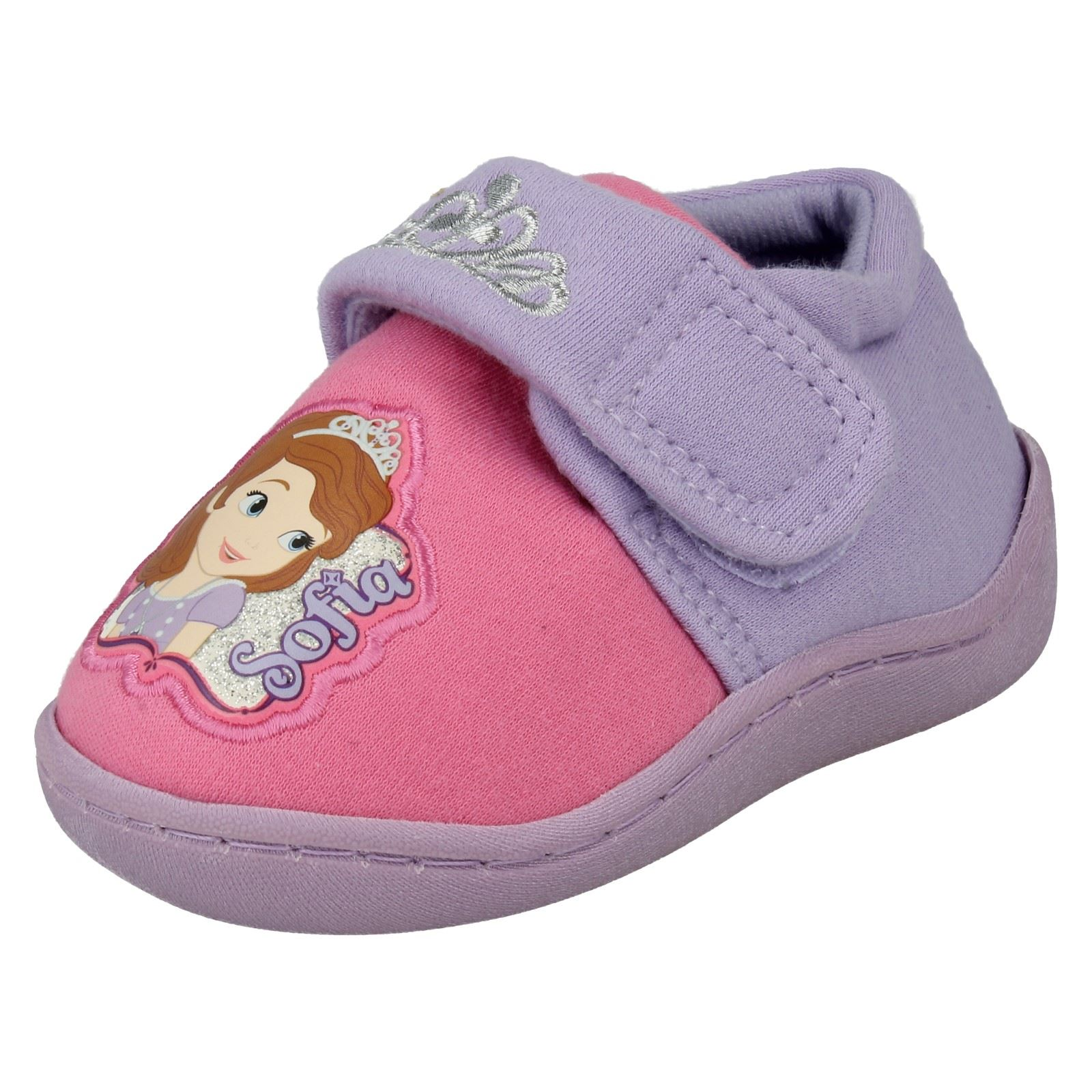 Girls Disney Slippers The Style - Sofia Crown Side