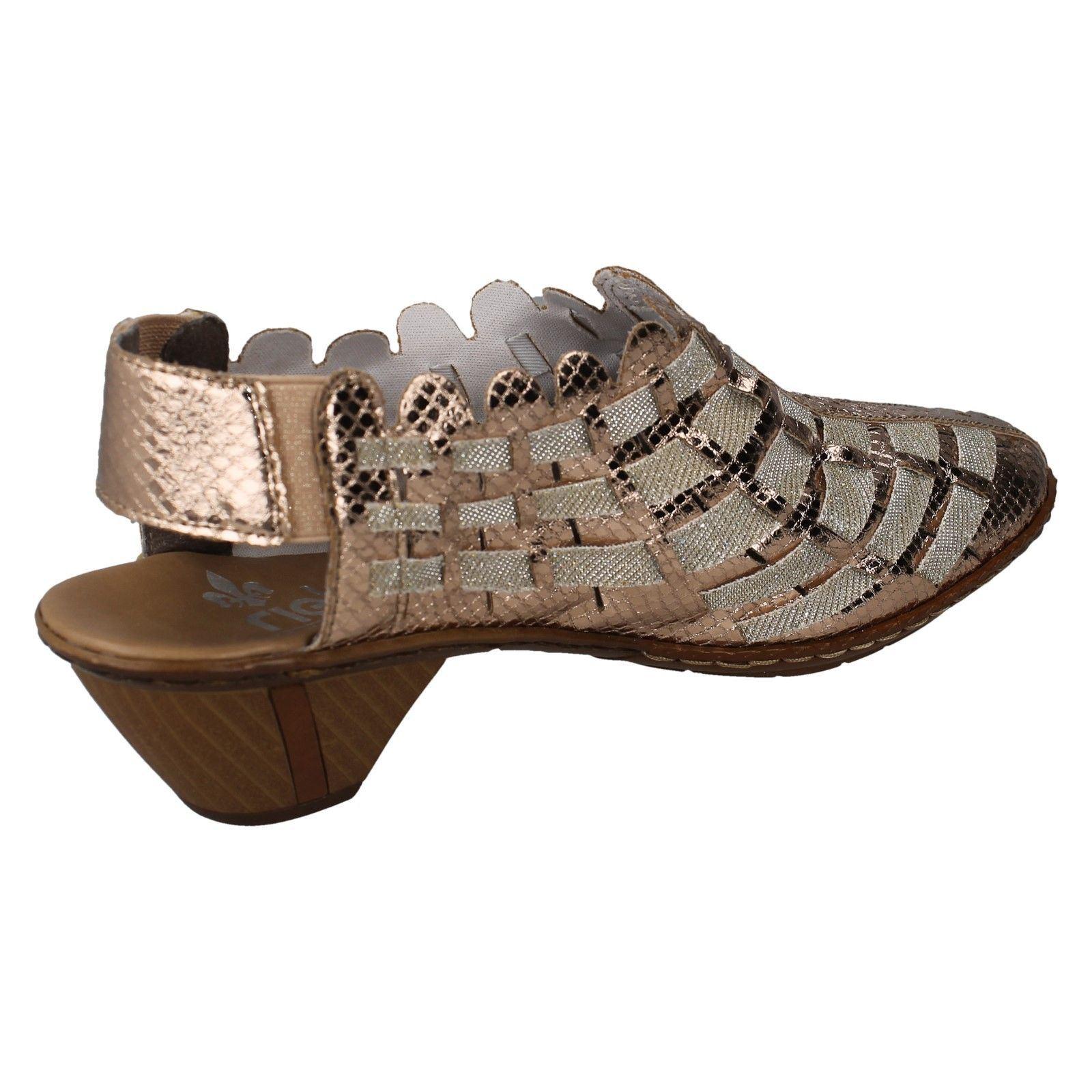 Ladies Slingback Shoes Rieker 46778 Style Metallic r5wrnT4