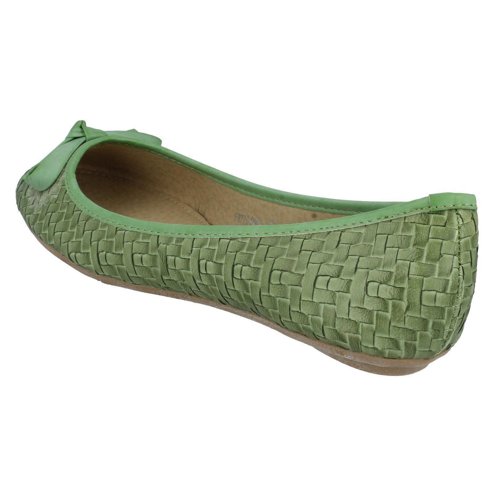 Señoras Spot En Pisos Zapatos Estilo-f8776