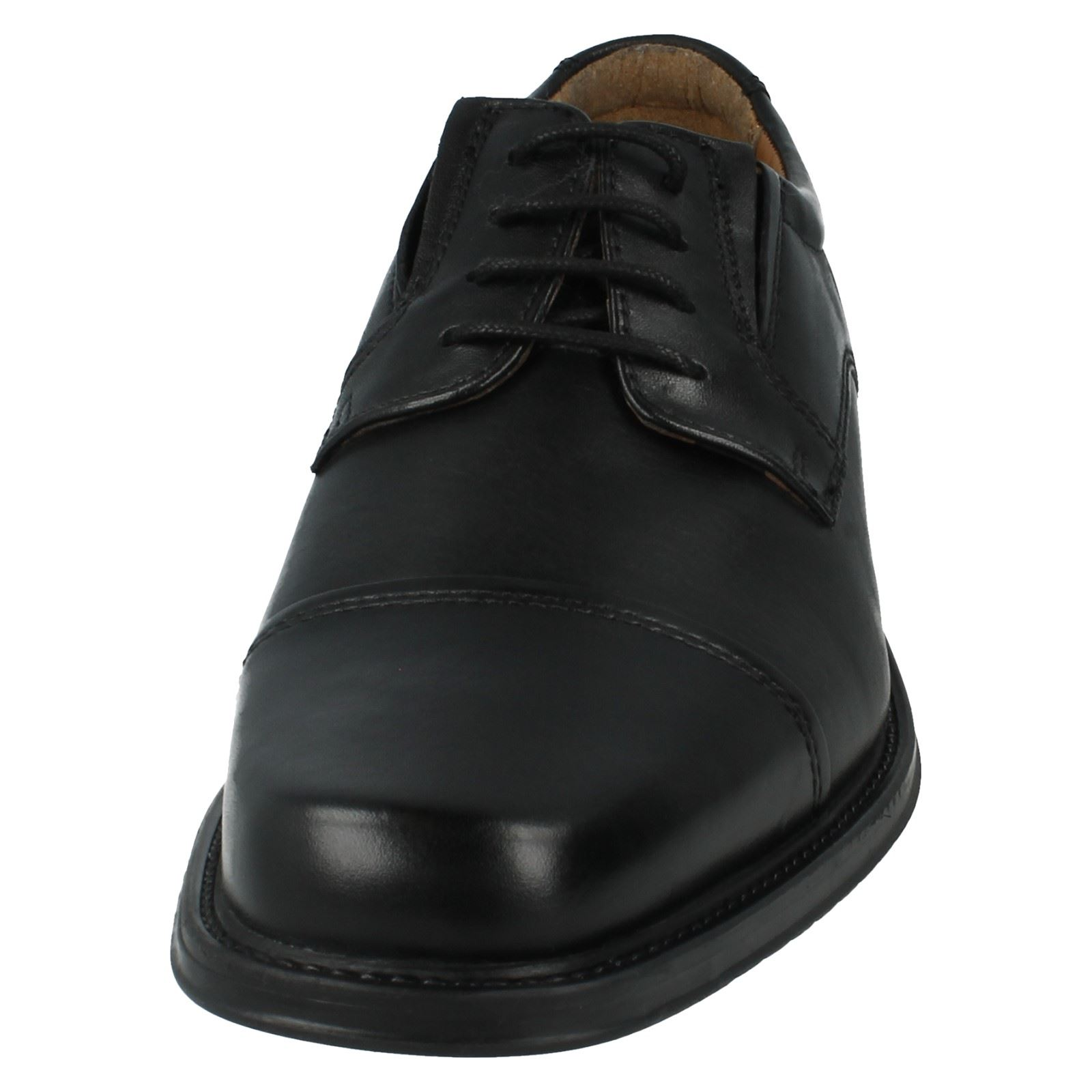 Up Black Clarks Shoes Driggs Formal Men's Cap Style Lace Ot8acwq