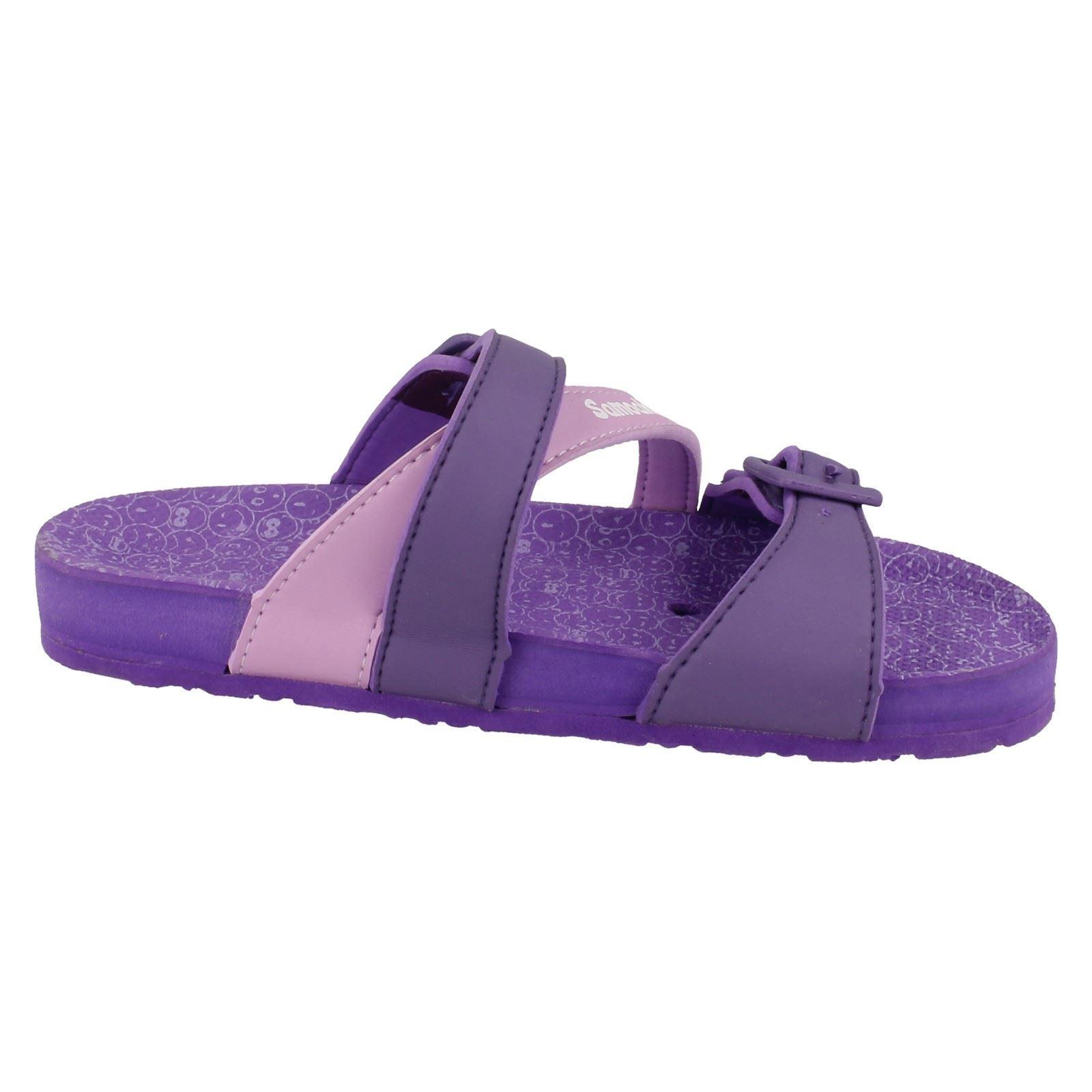 Girls Samoa Synthetic Sandals - Cherry ~ N