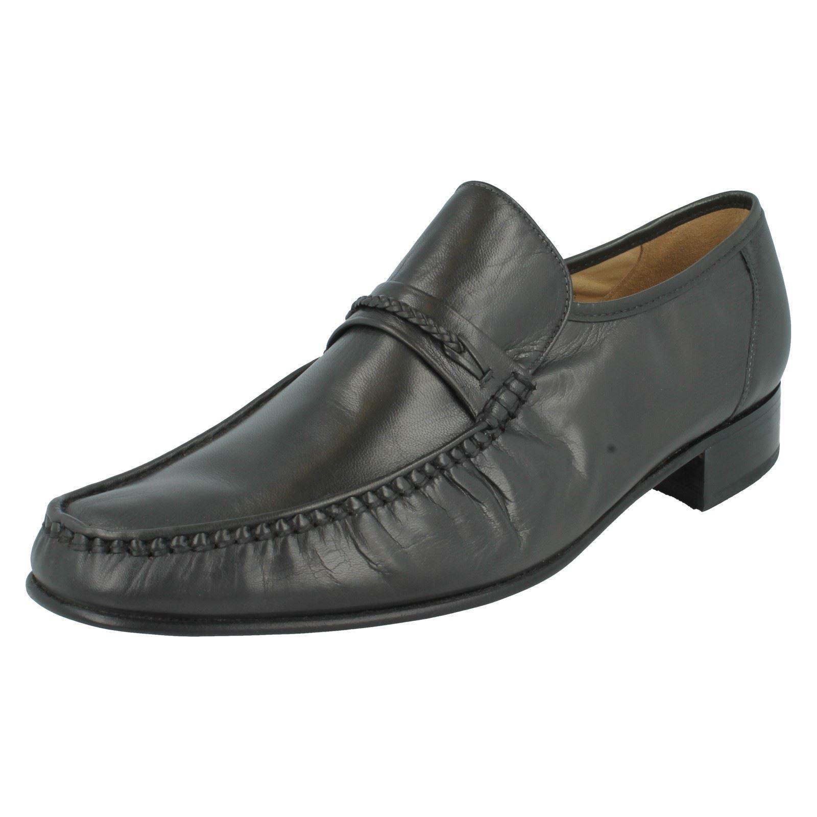 Homme en Grenson à enfiler en Homme cuir gris g fit formelle Mocassins Chaussures Floride 9623 778b00
