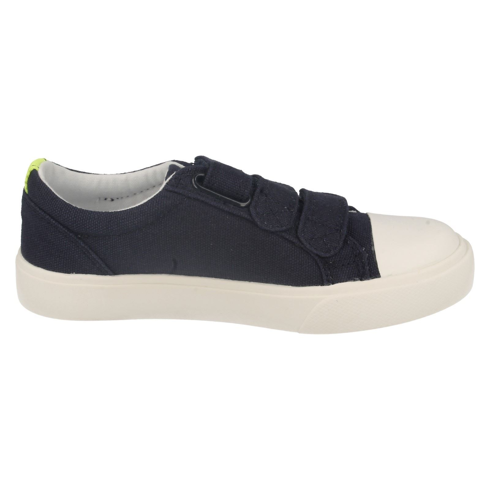 Boys Clarks Sasonal Canvas Summer Shoes Style - Club Halcy