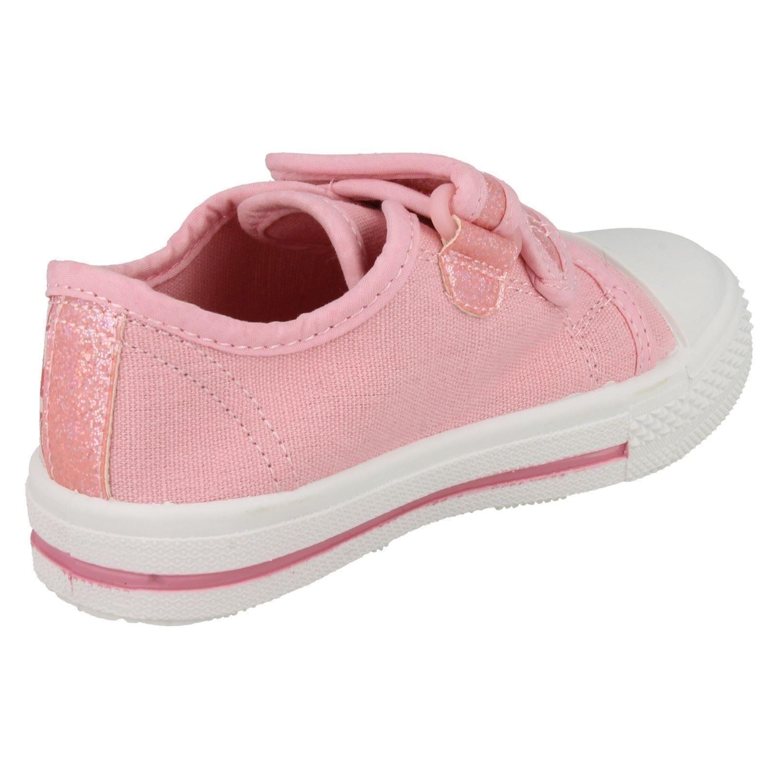 Niñas PRINCESA LONA Zapatos Estilo-Disneys