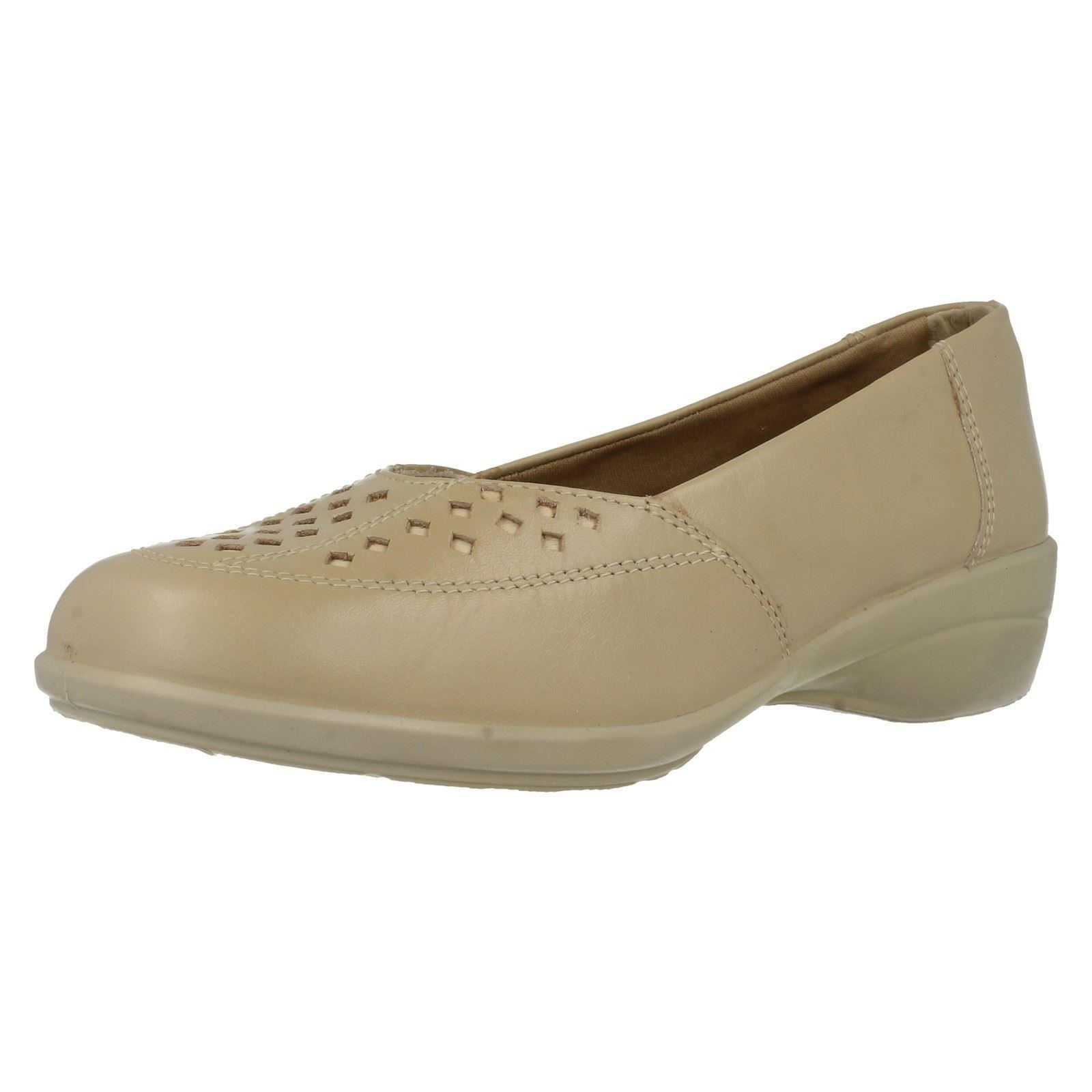 Ladies EasyB Beige Slip On Shoes In EE Fit 'Jubilee' The Style ~ K