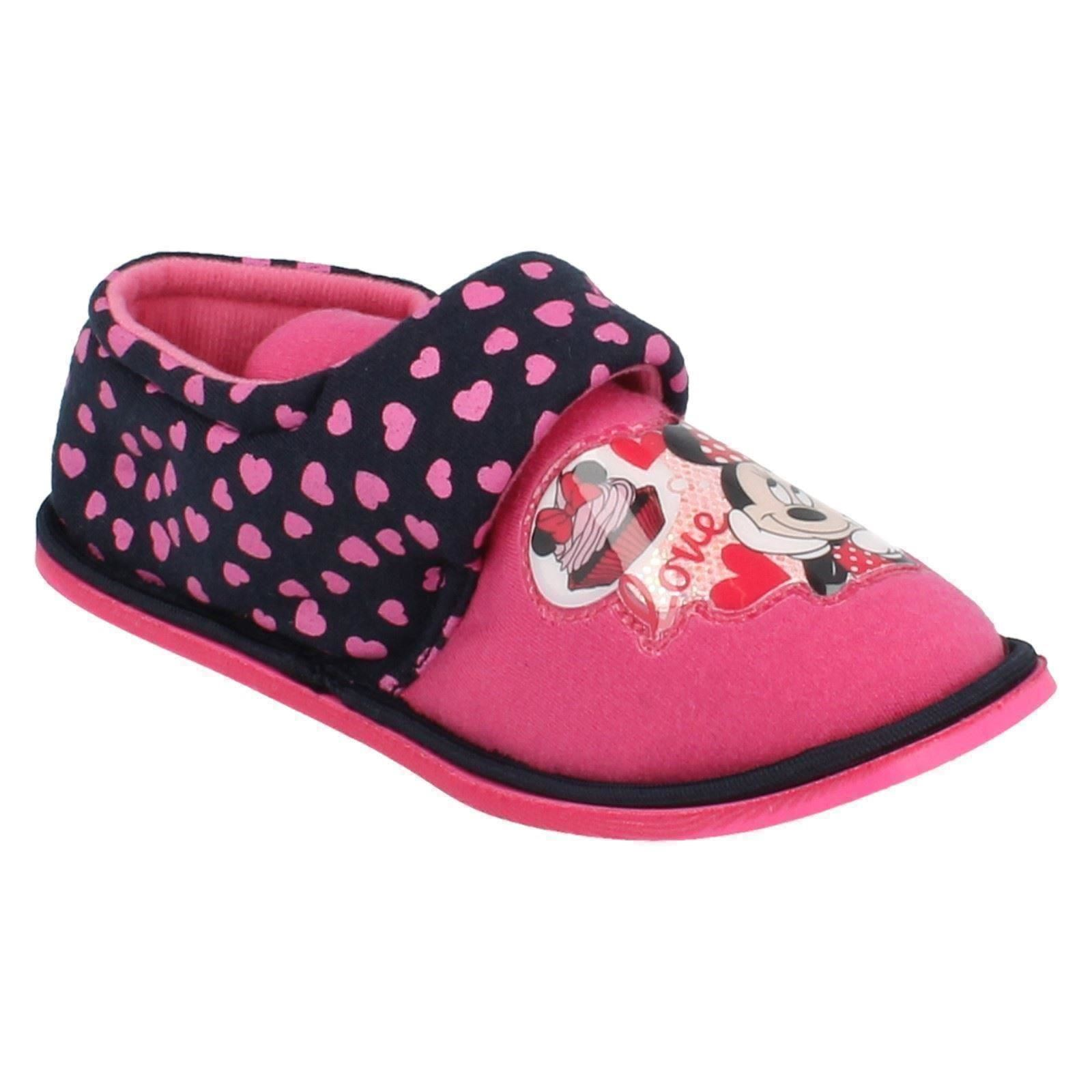 Girls Minnie Mouse Slippers Boarder