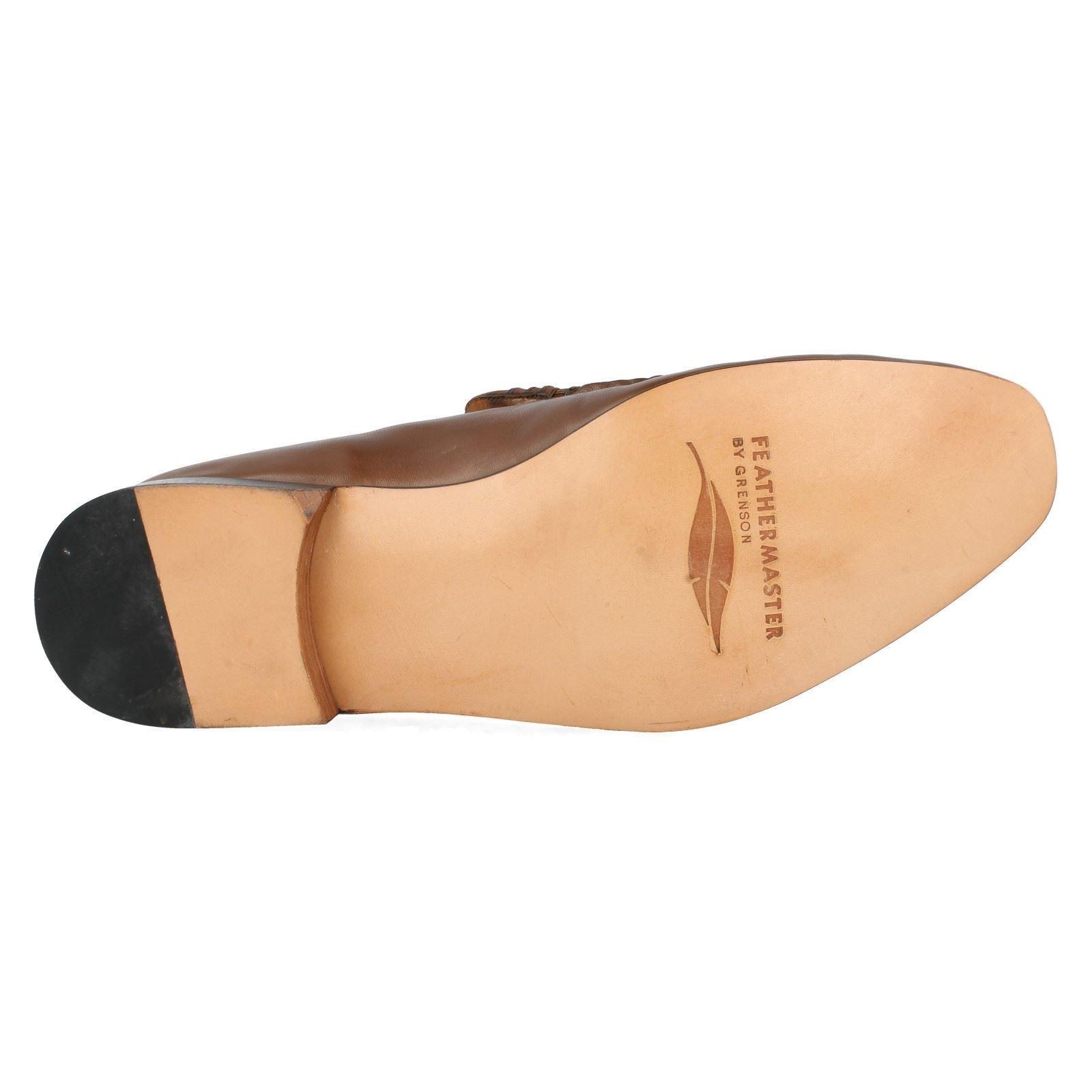 Mens Grenson Slip Slip Slip On Leather F Fit Moccasin Formal Shoes Idaho 9682 865cc9
