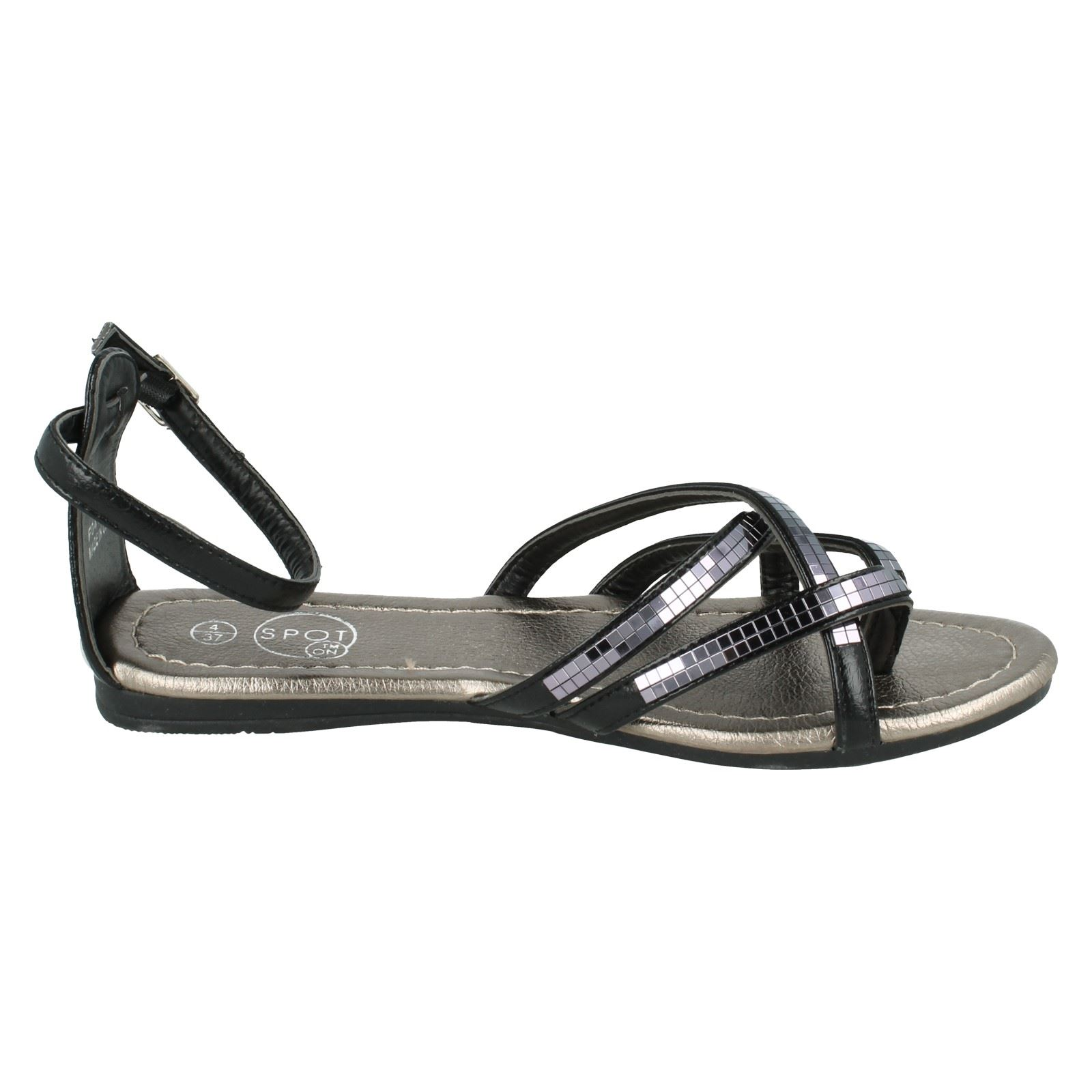 Damas Spot On Sandalias De Estilo-F0415
