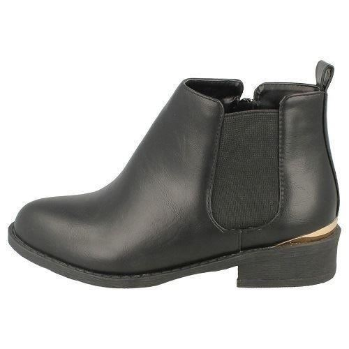 Girls Spot On Ankle Height Chelsea Boots H5039 ~ K