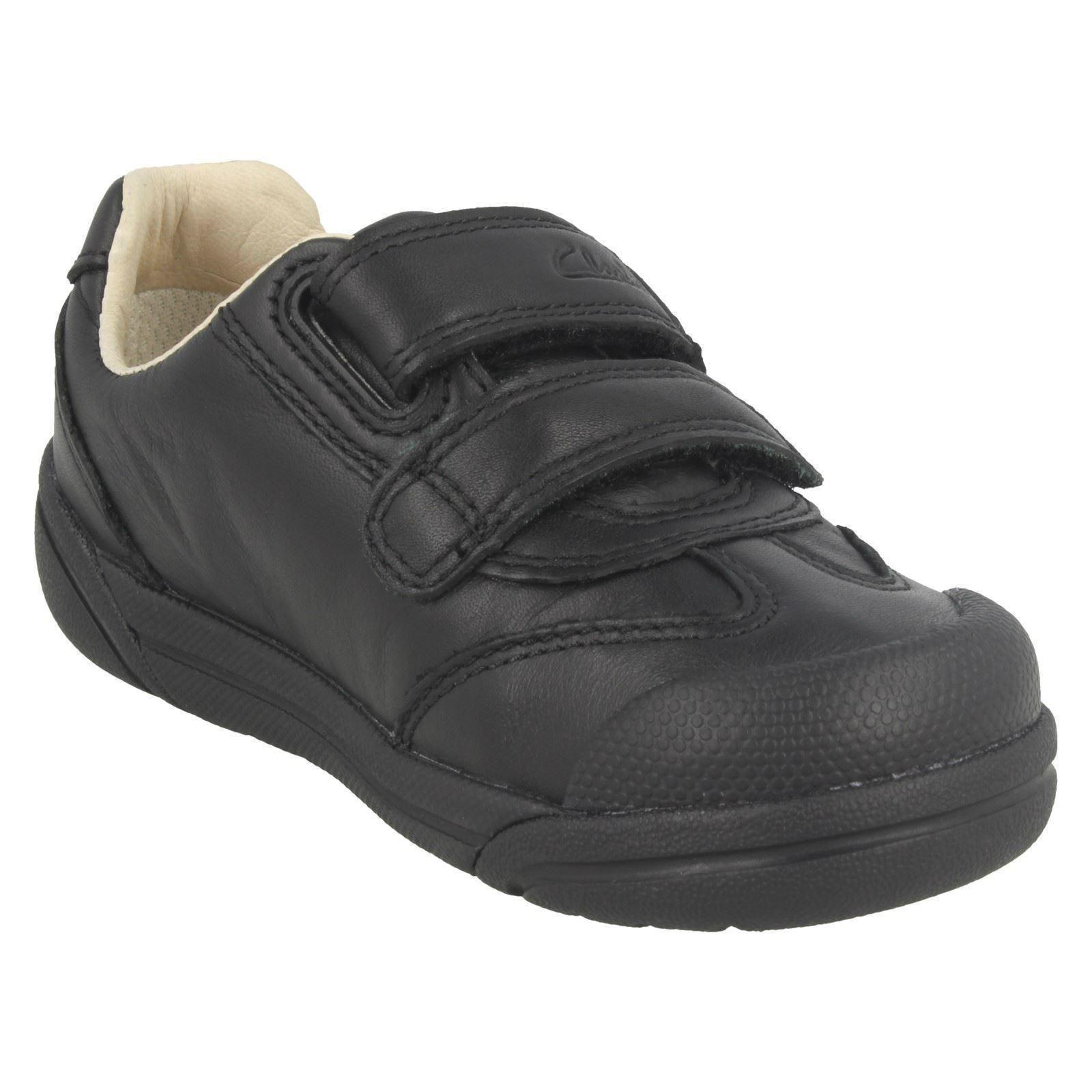 Chicos Clarks Zapatos Informales de Cuero Inteligente Escuela lilfolk Zoo