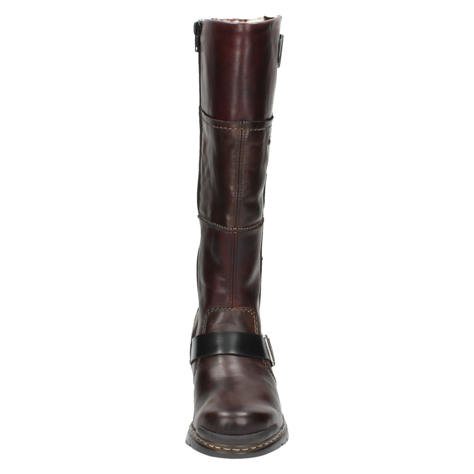 Ladies Label Brown Boots Rieker 74382 Long 6rtR6