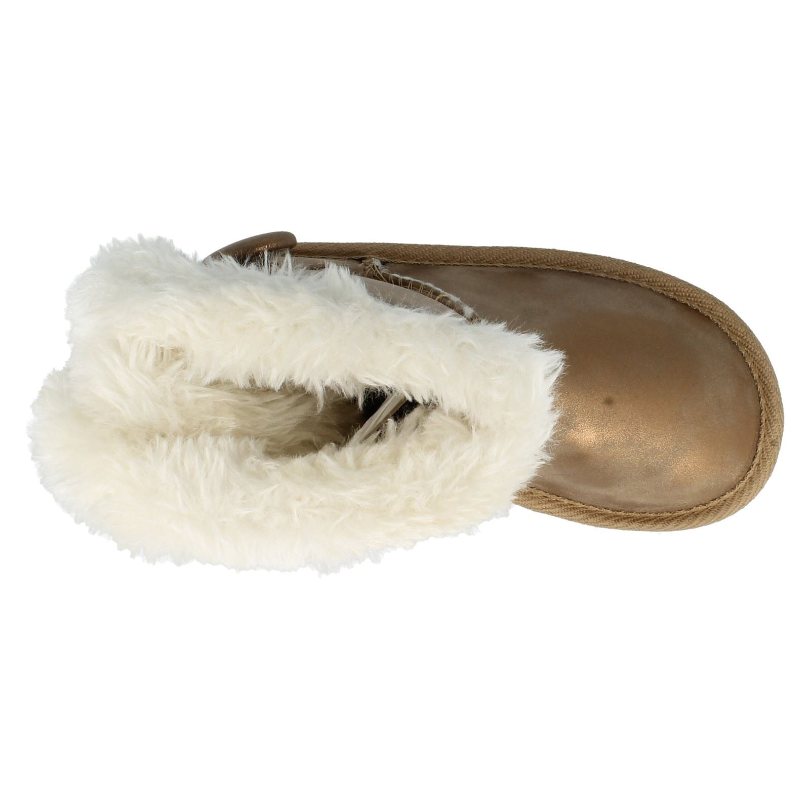 Girls Spot On Boots With Faux Fur Trim H4101