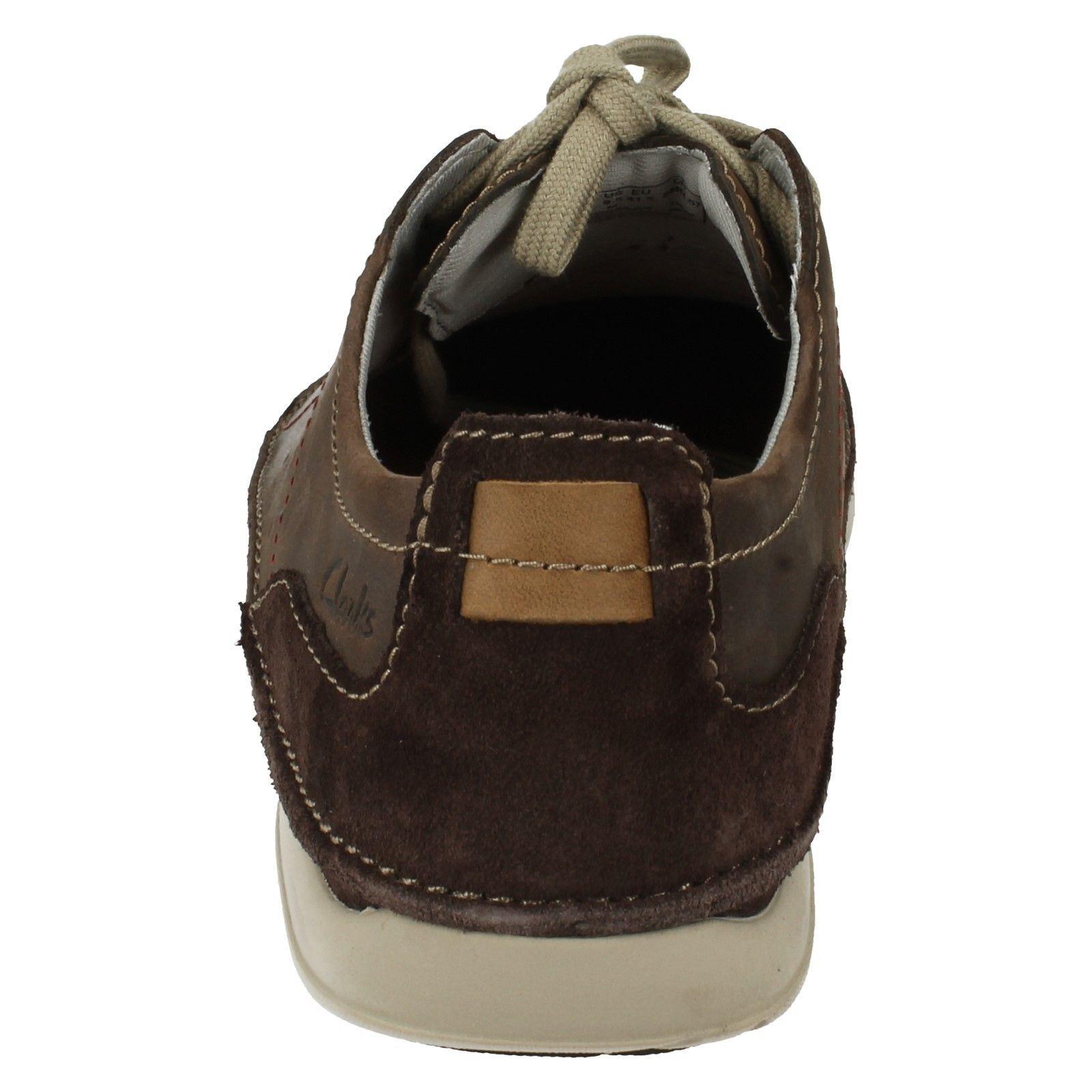 Men's Clarks Shoes Lightweight Casual Lace Up Shoes Clarks Label - Trikeyon Fly c08c9d
